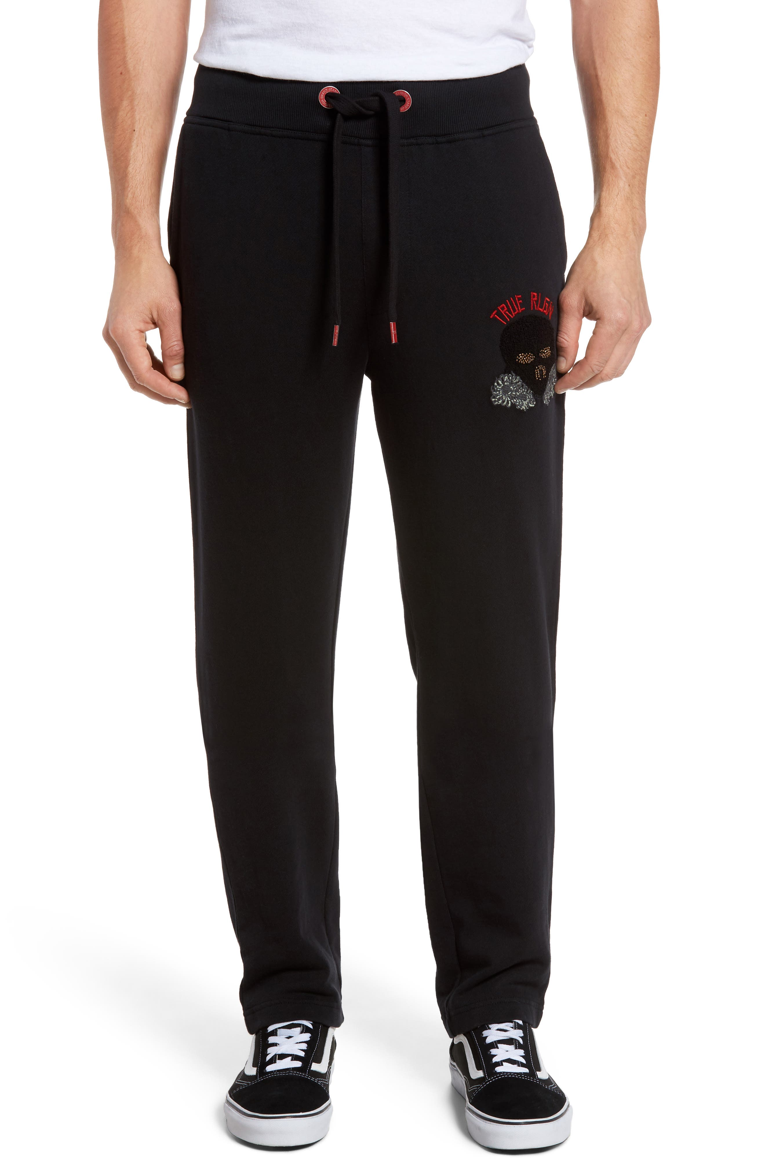 Rising Sun Embroidered Sweatpants,                         Main,                         color, 001