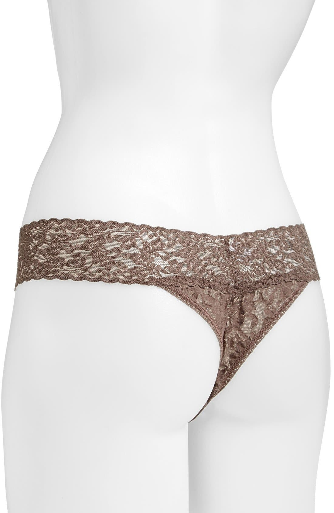 HANKY PANKY,                             Original Rise Thong,                             Alternate thumbnail 3, color,                             CAPPUCCINO