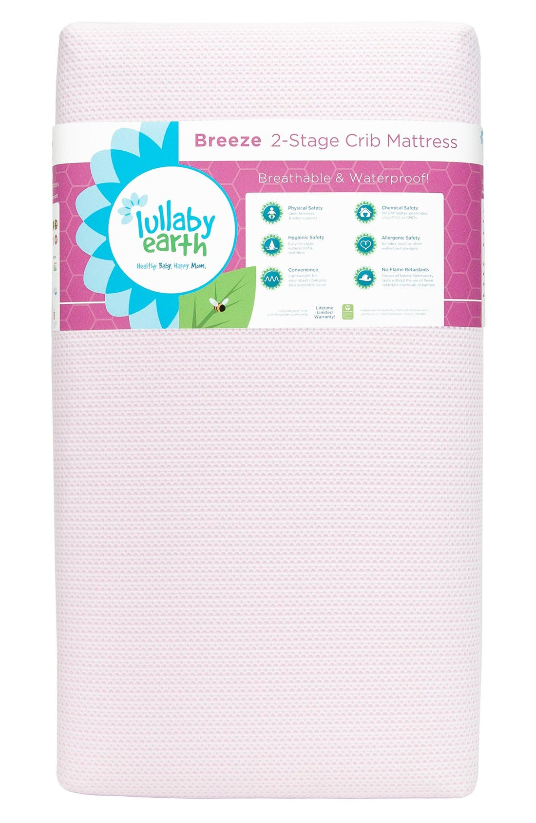 'Breeze' Two Stage Crib Mattress,                             Main thumbnail 5, color,