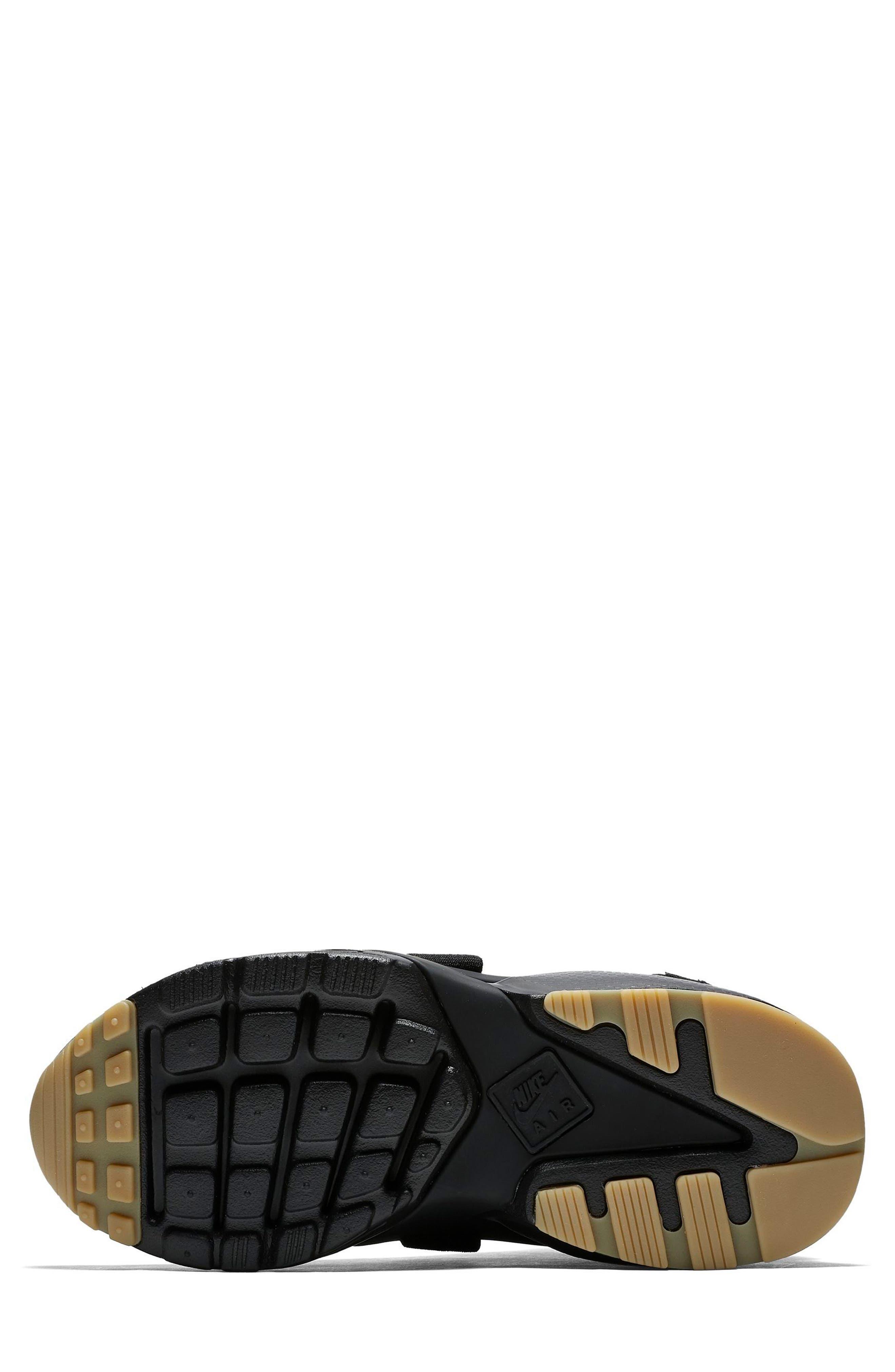 Air Huarache City Sneaker,                             Alternate thumbnail 5, color,                             BLACK/ BLACK/ DARK GREY