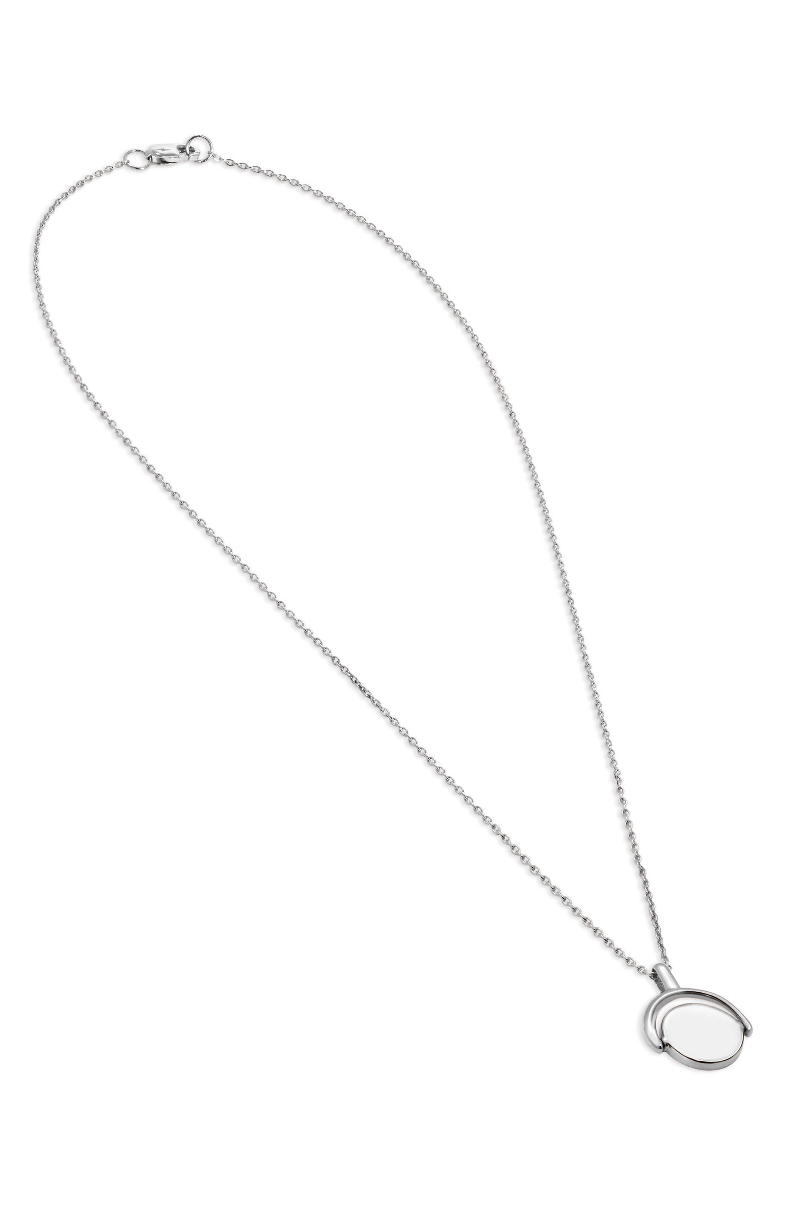 Rotating Signet Pendant Necklace,                             Alternate thumbnail 2, color,                             040