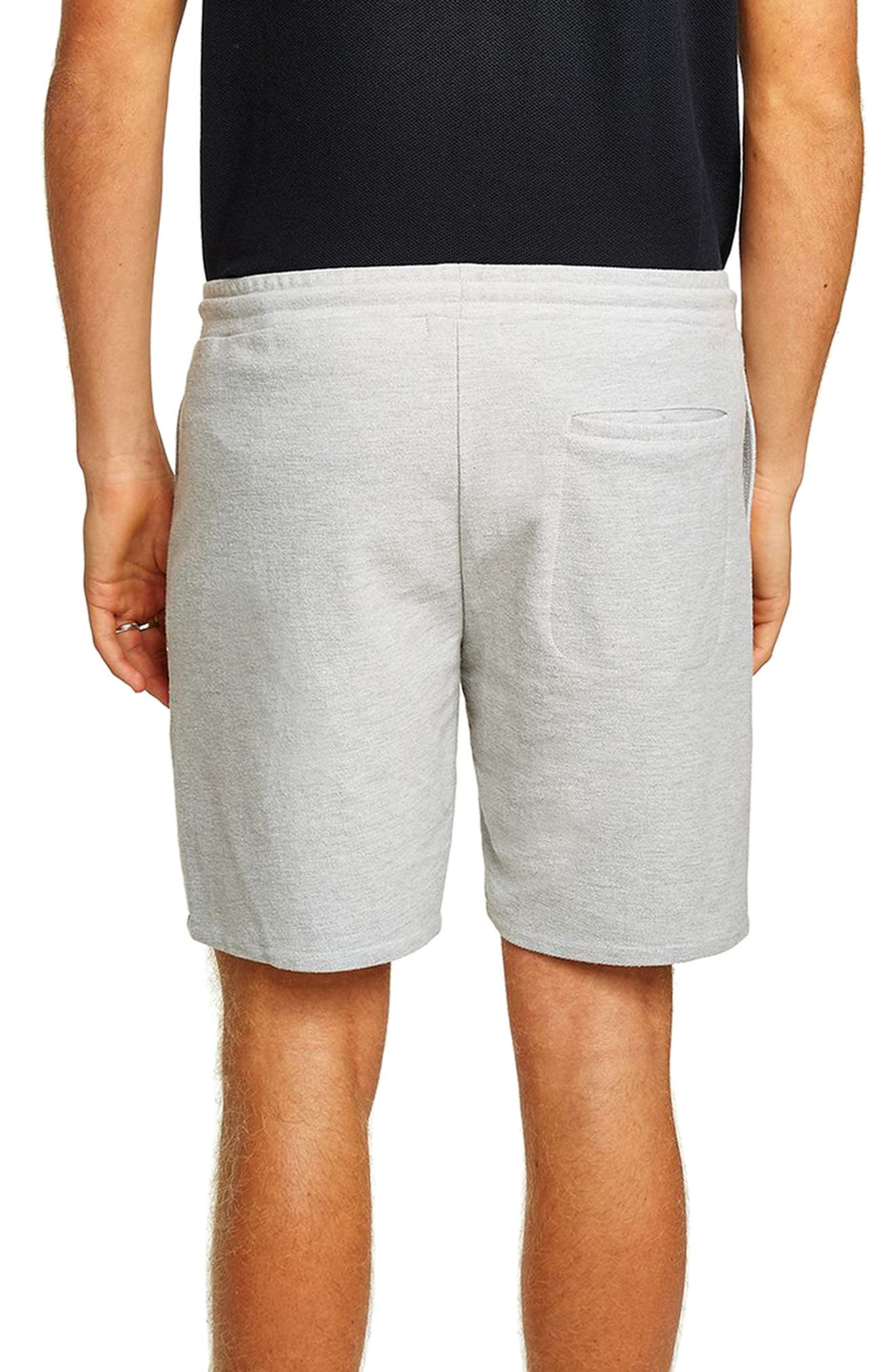 Slim Fit Twill Jersey Shorts,                             Alternate thumbnail 2, color,                             GREY