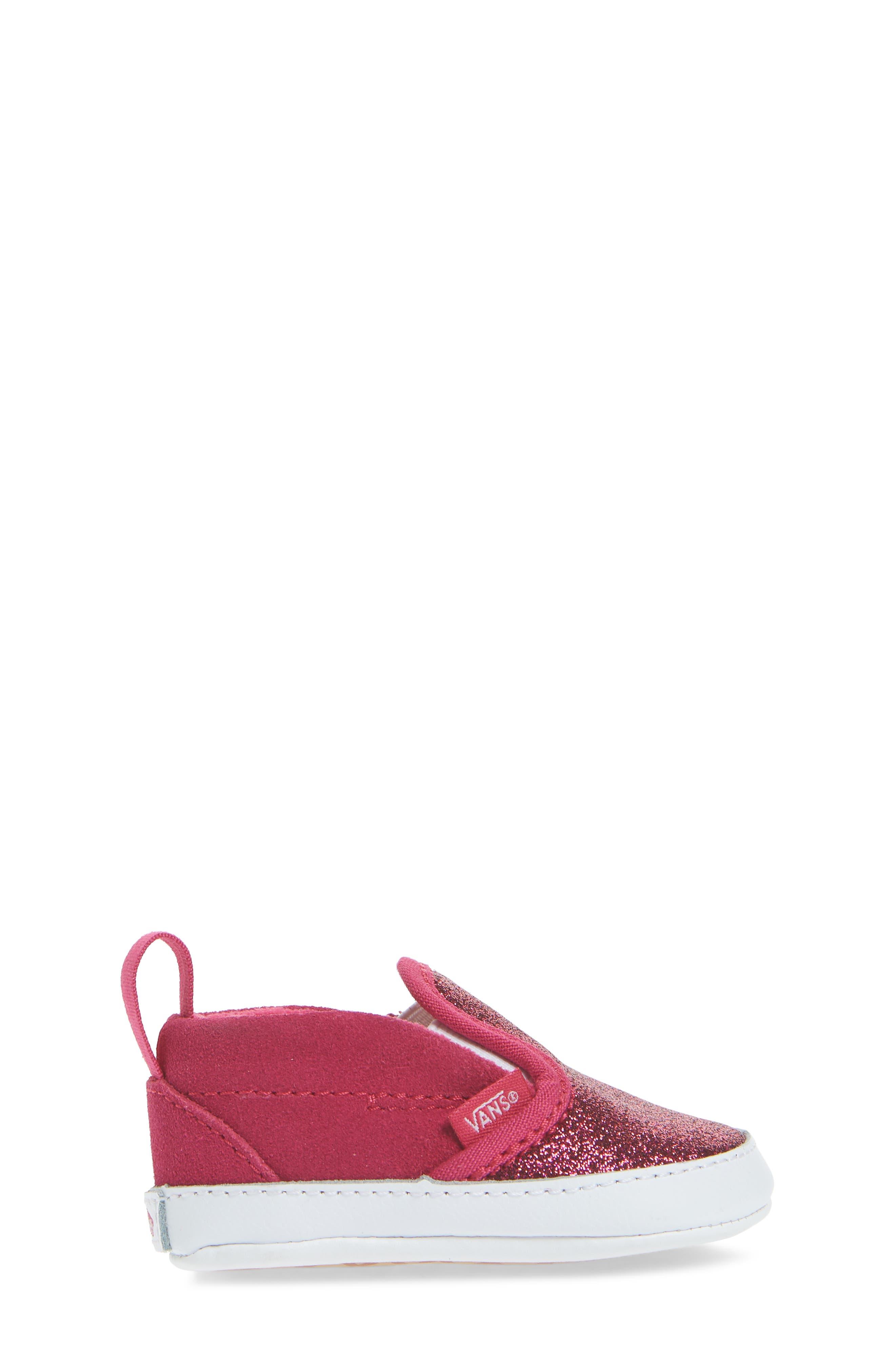 Glitter Crib Shoe,                             Alternate thumbnail 3, color,                             660