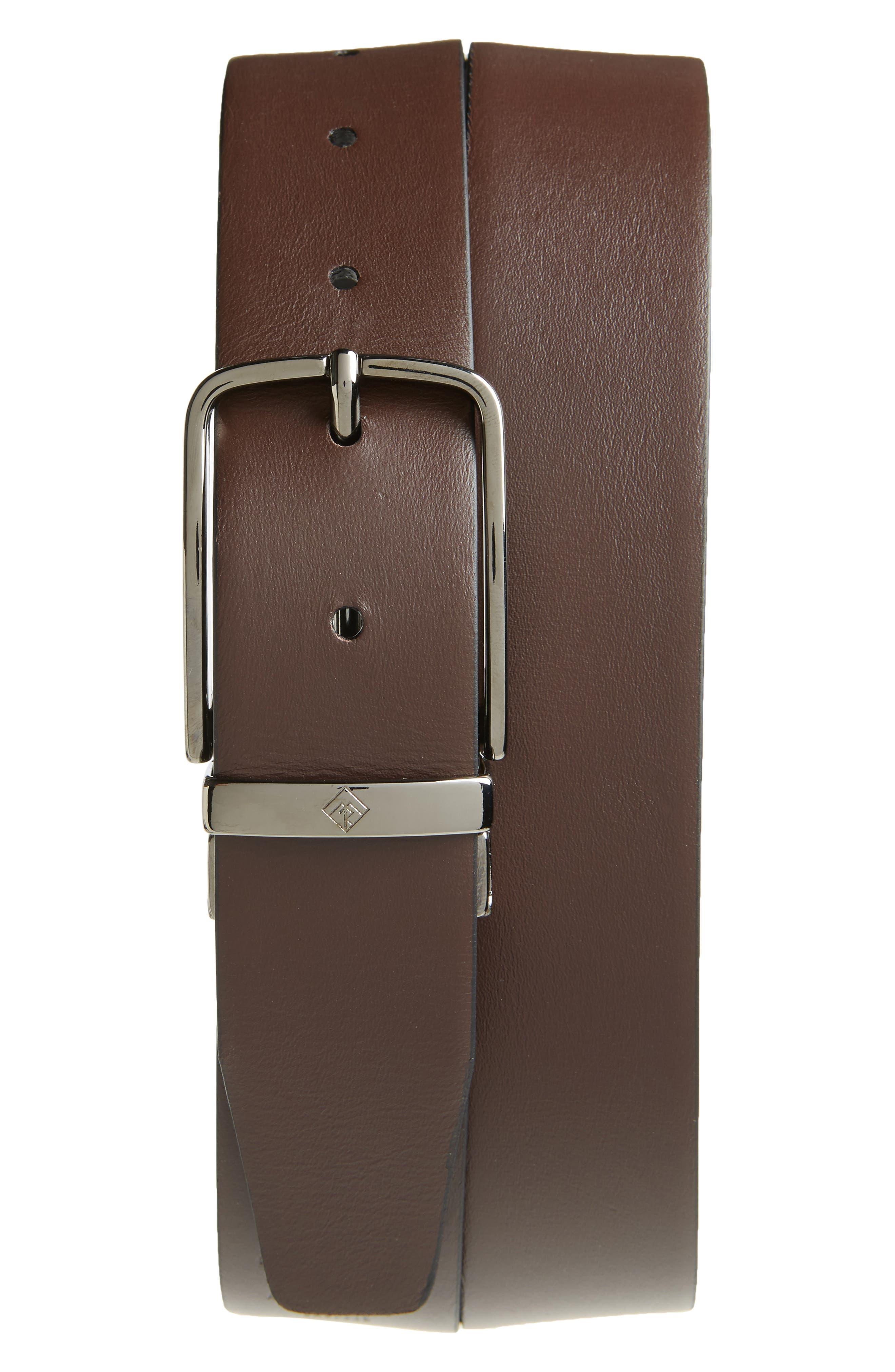 Matteo Reversible Leather Belt,                             Alternate thumbnail 2, color,                             BLACK/ BROWN