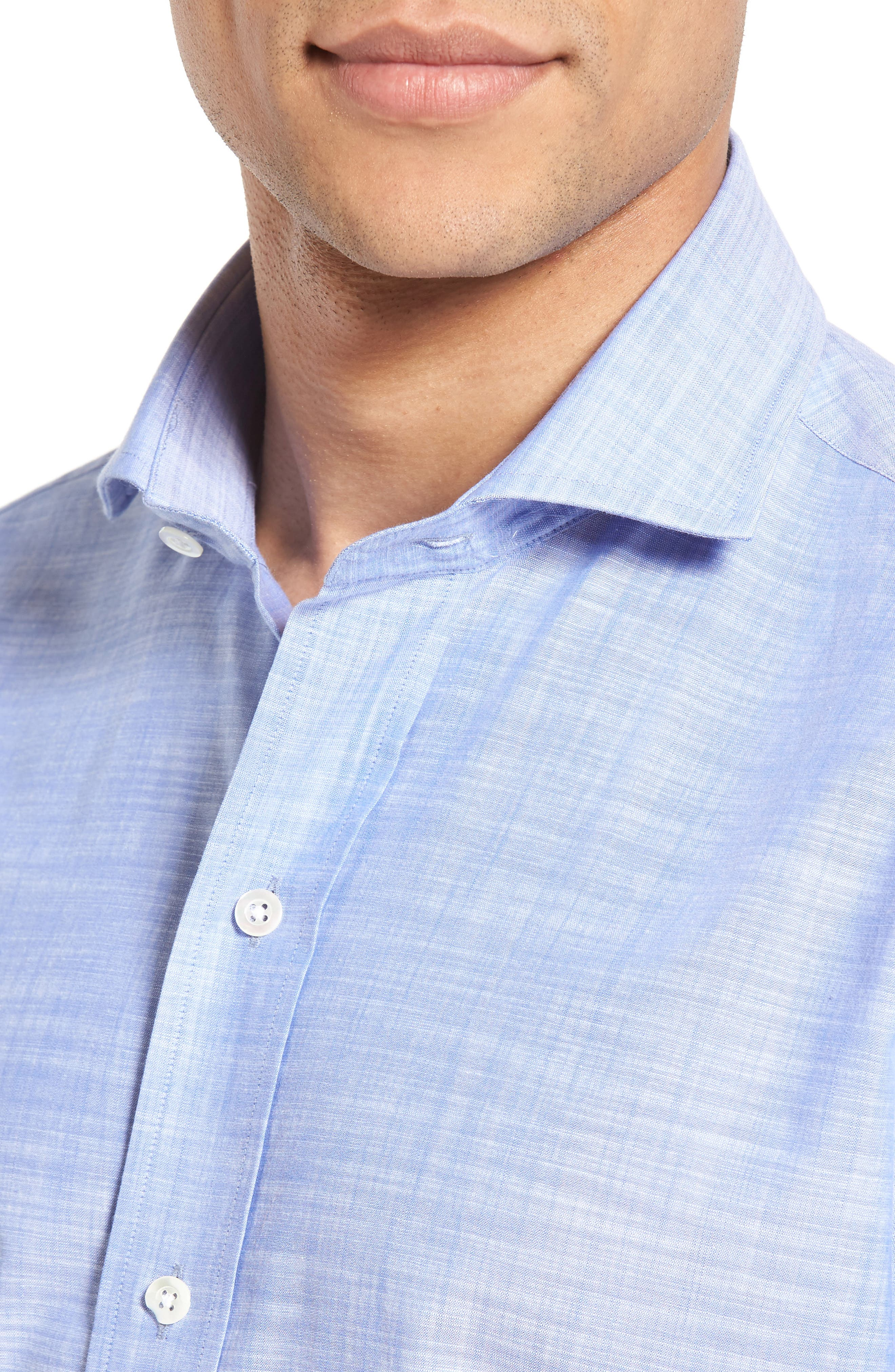 The McDaniel Classic Fit Chambray Sport Shirt,                             Alternate thumbnail 8, color,