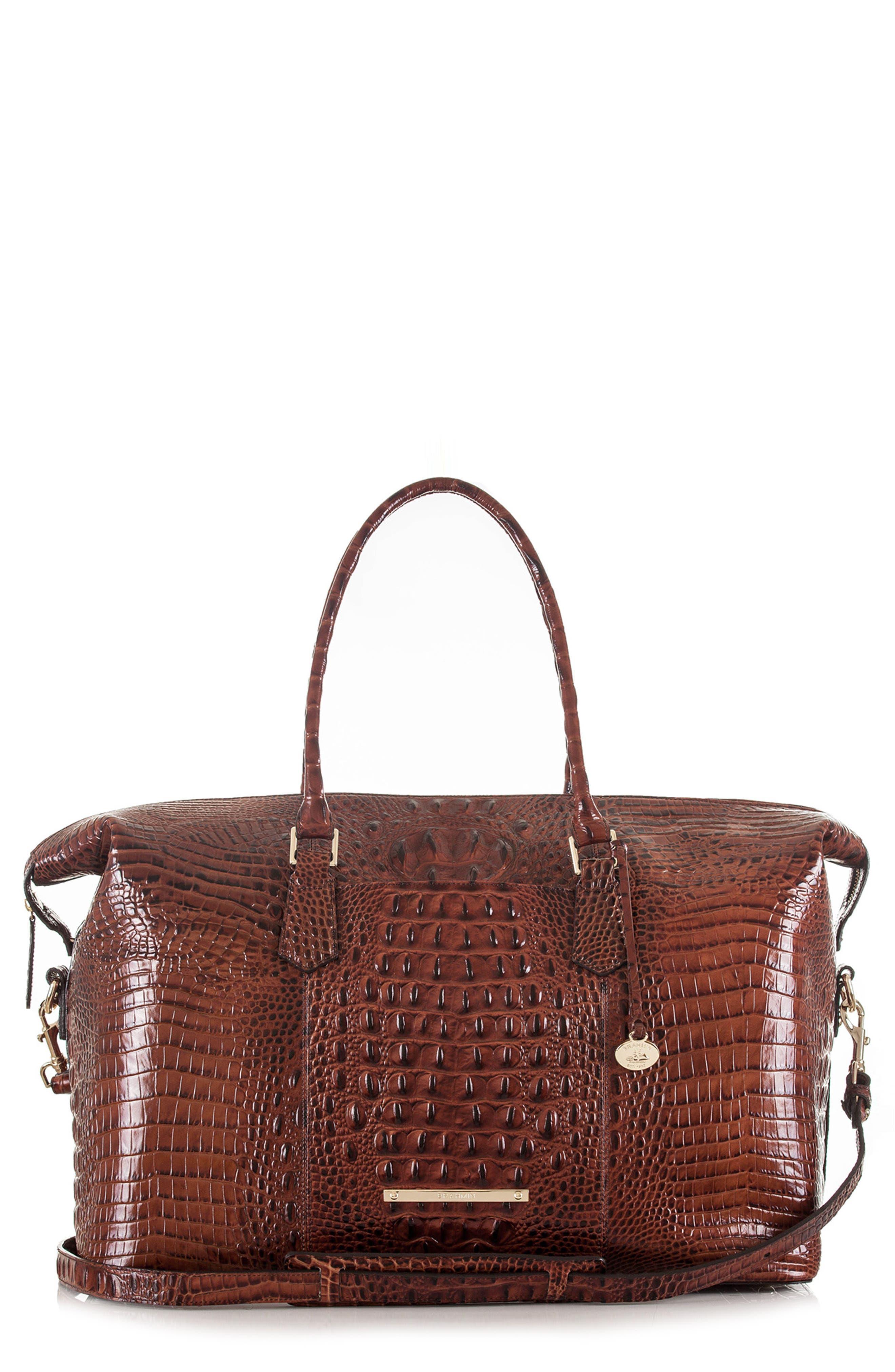 'Duxbury' Leather Travel Bag,                             Alternate thumbnail 7, color,