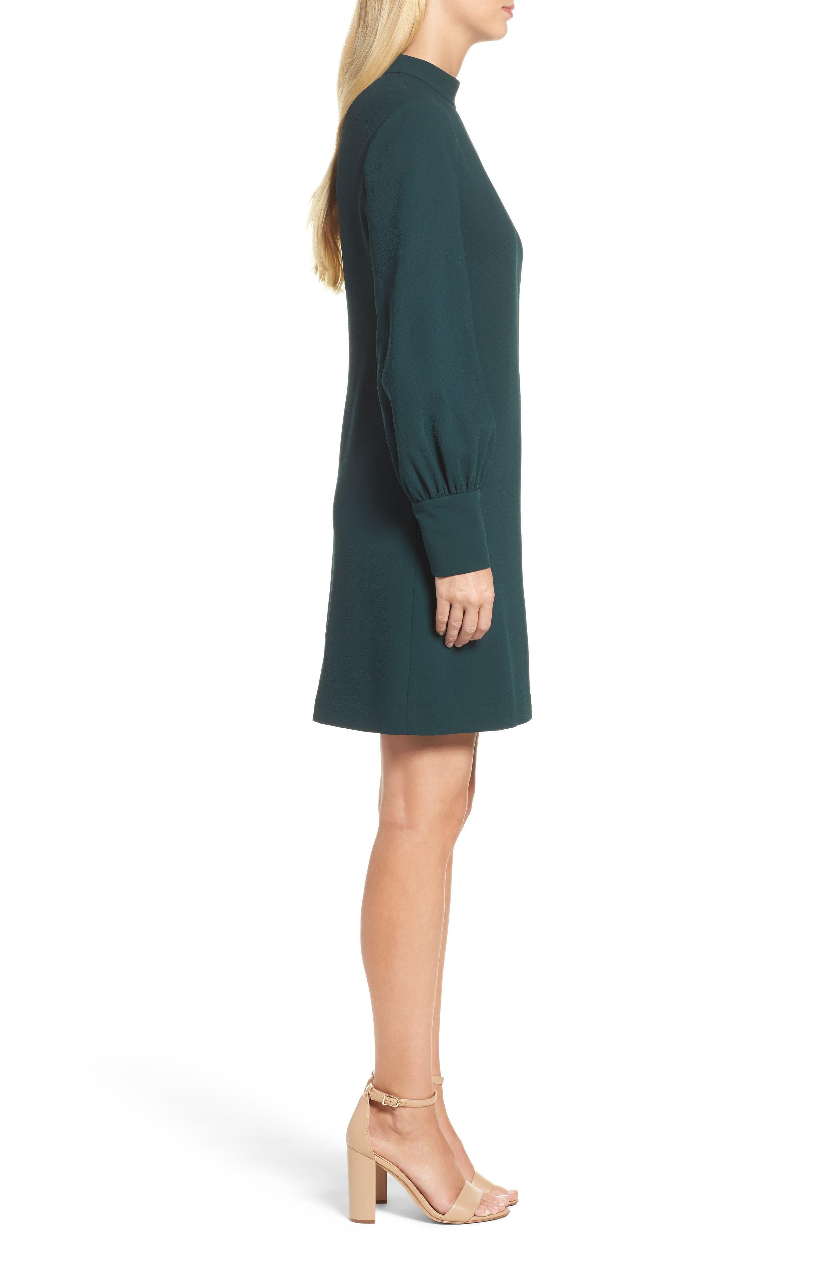 Bishop Sleeve Shift Dress,                             Alternate thumbnail 3, color,                             302