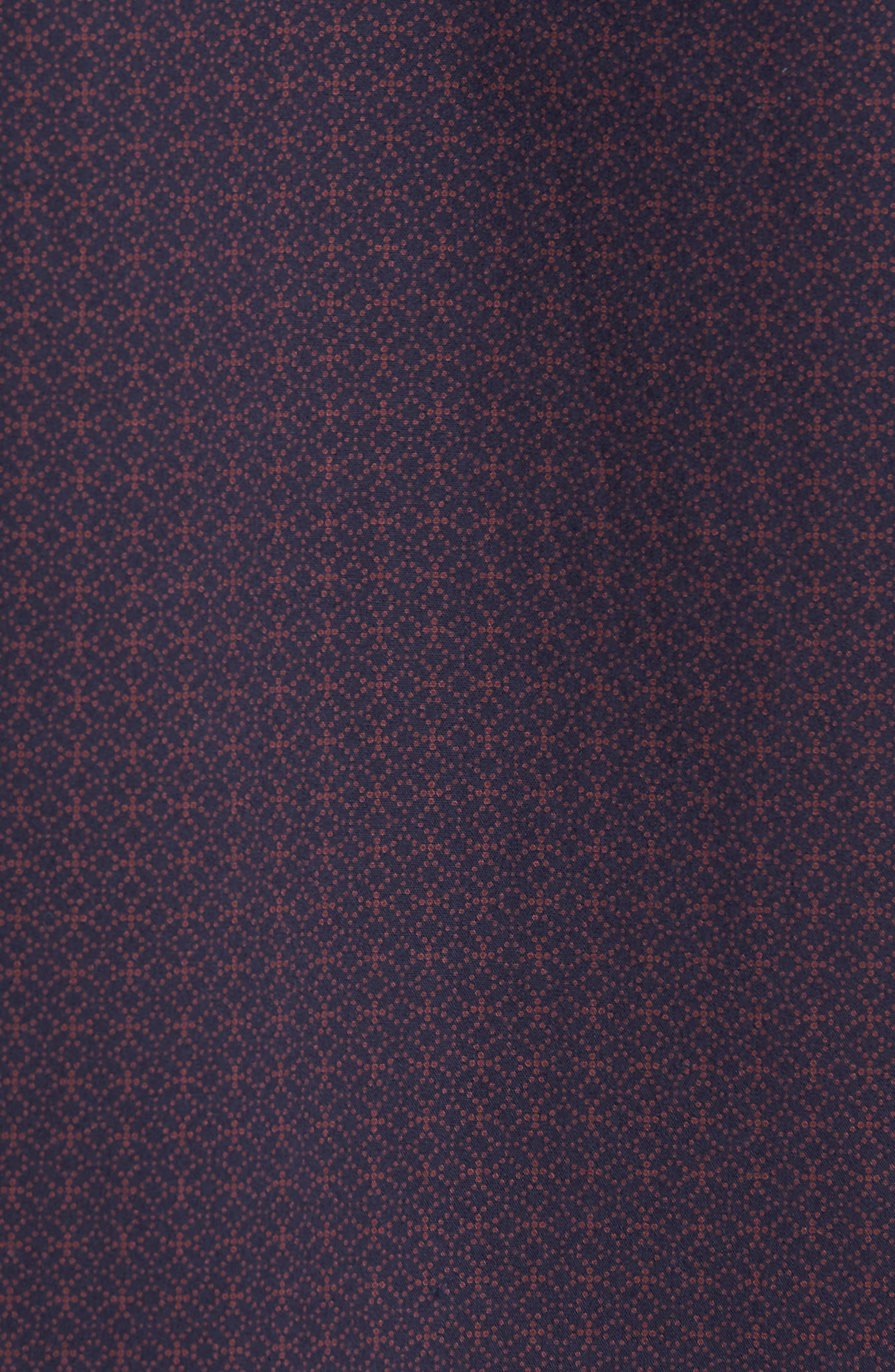 Slim Fit Print Non Iron Sport Shirt,                             Alternate thumbnail 5, color,                             NAVY NIGHT BURGUNDY GEO