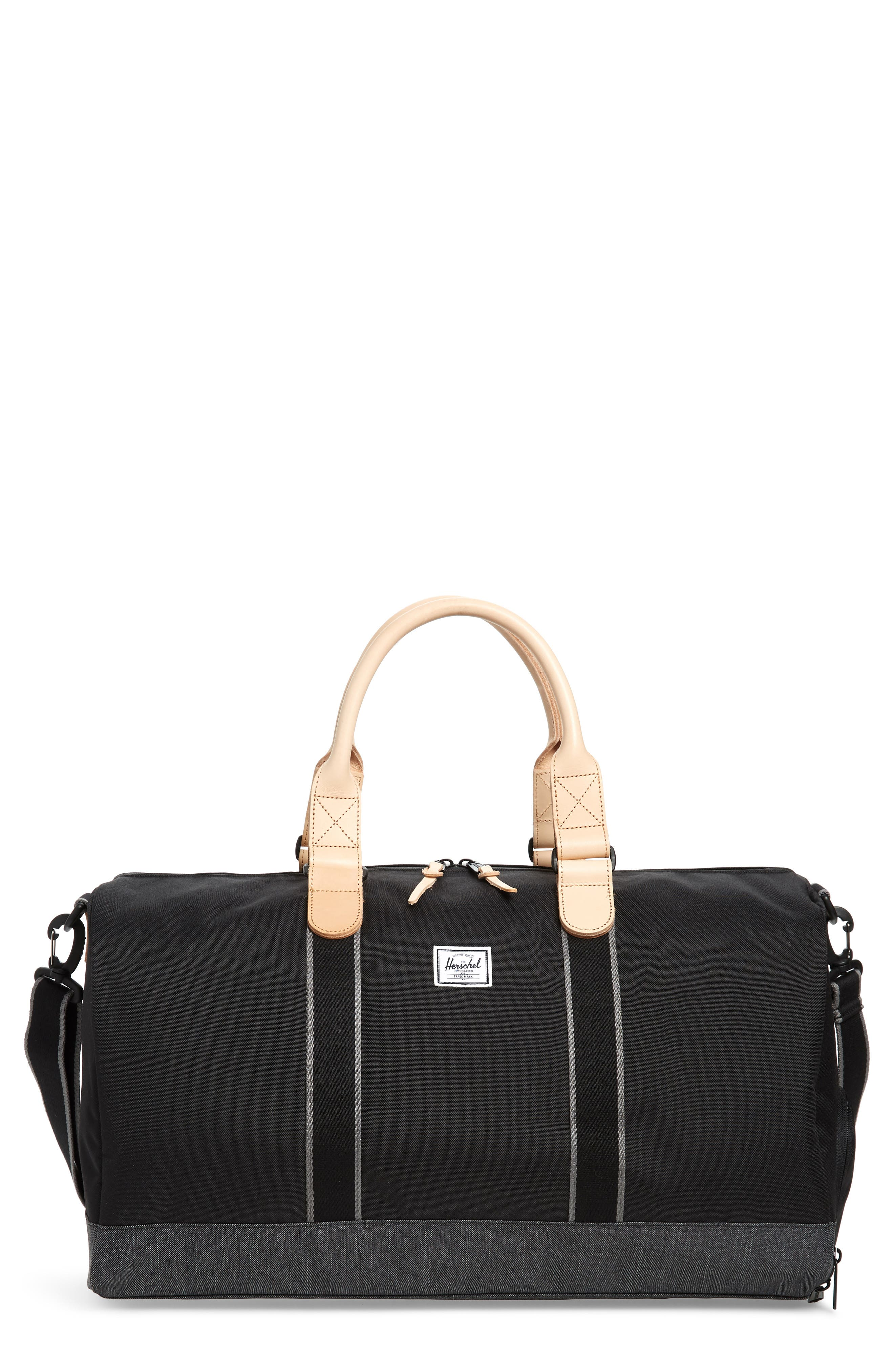 Novel Offset Denim Duffel Bag,                         Main,                         color, 012