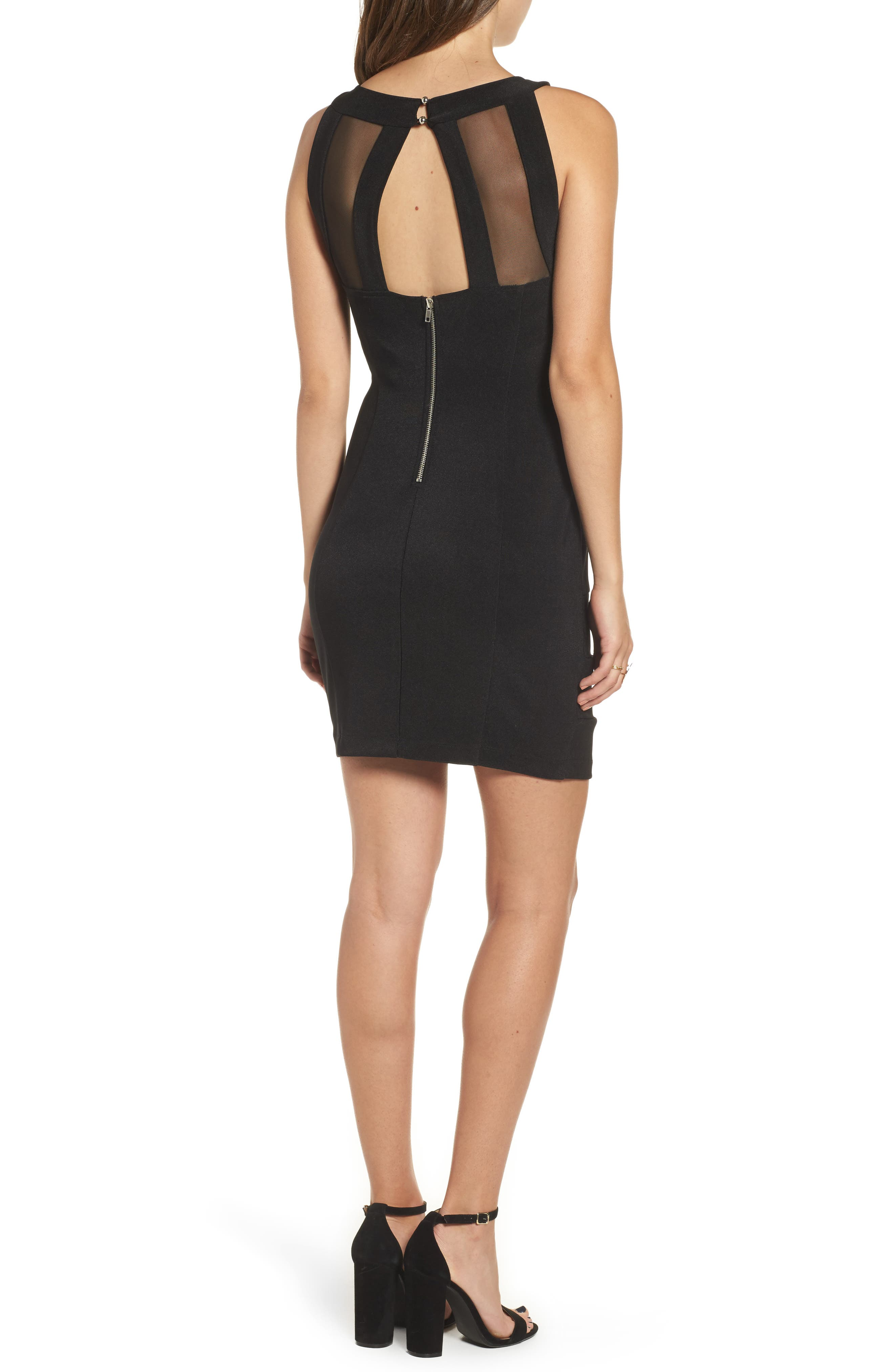 Love Nickie Lew Beaded Body Con Dress,                             Alternate thumbnail 2, color,