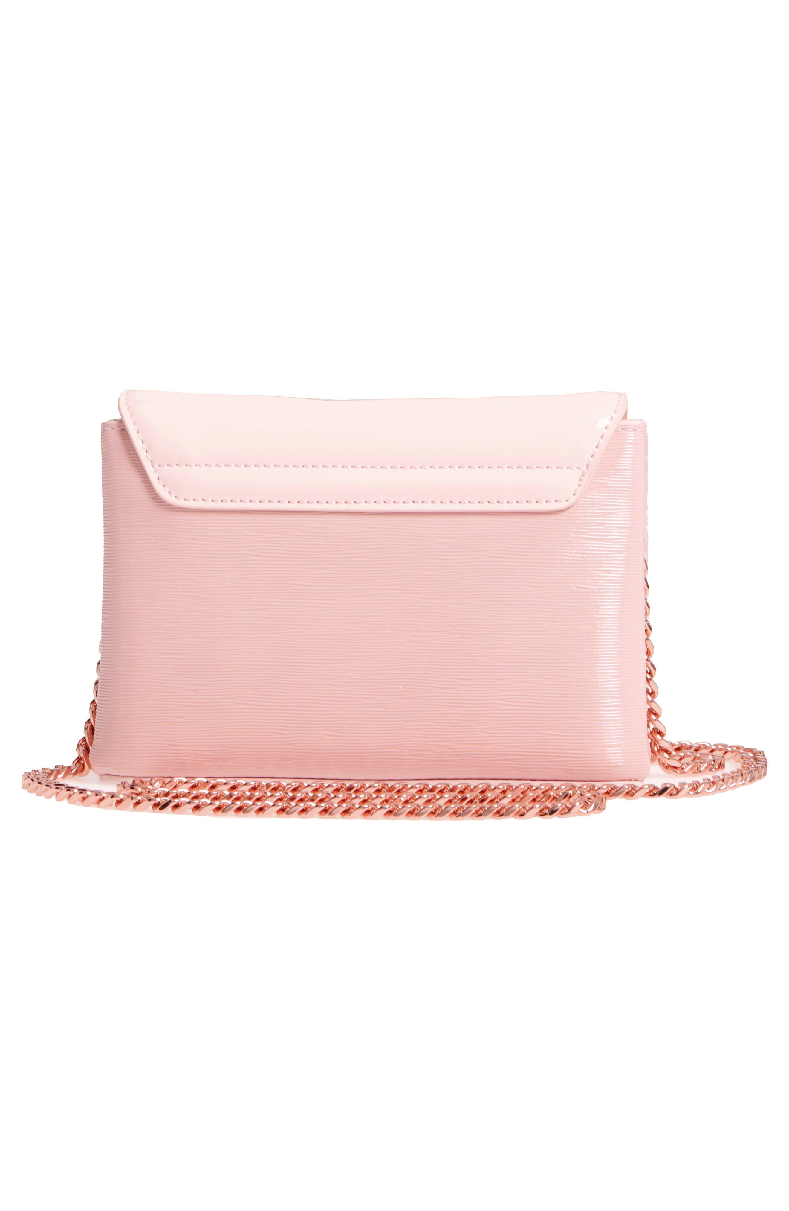 Loopa Bow Mini Leather Crossbody Bag,                             Alternate thumbnail 6, color,
