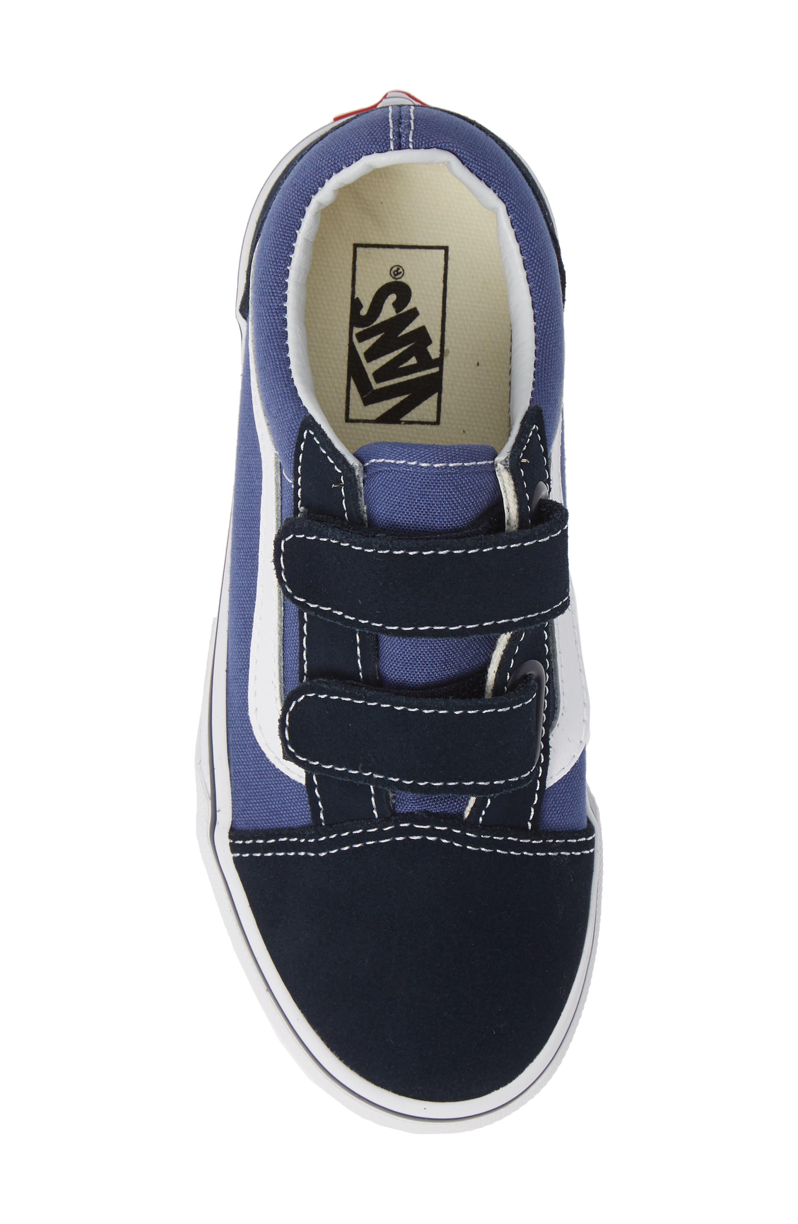 Old Skool V Sneaker,                             Alternate thumbnail 5, color,                             NAVY/ TRUE WHITE