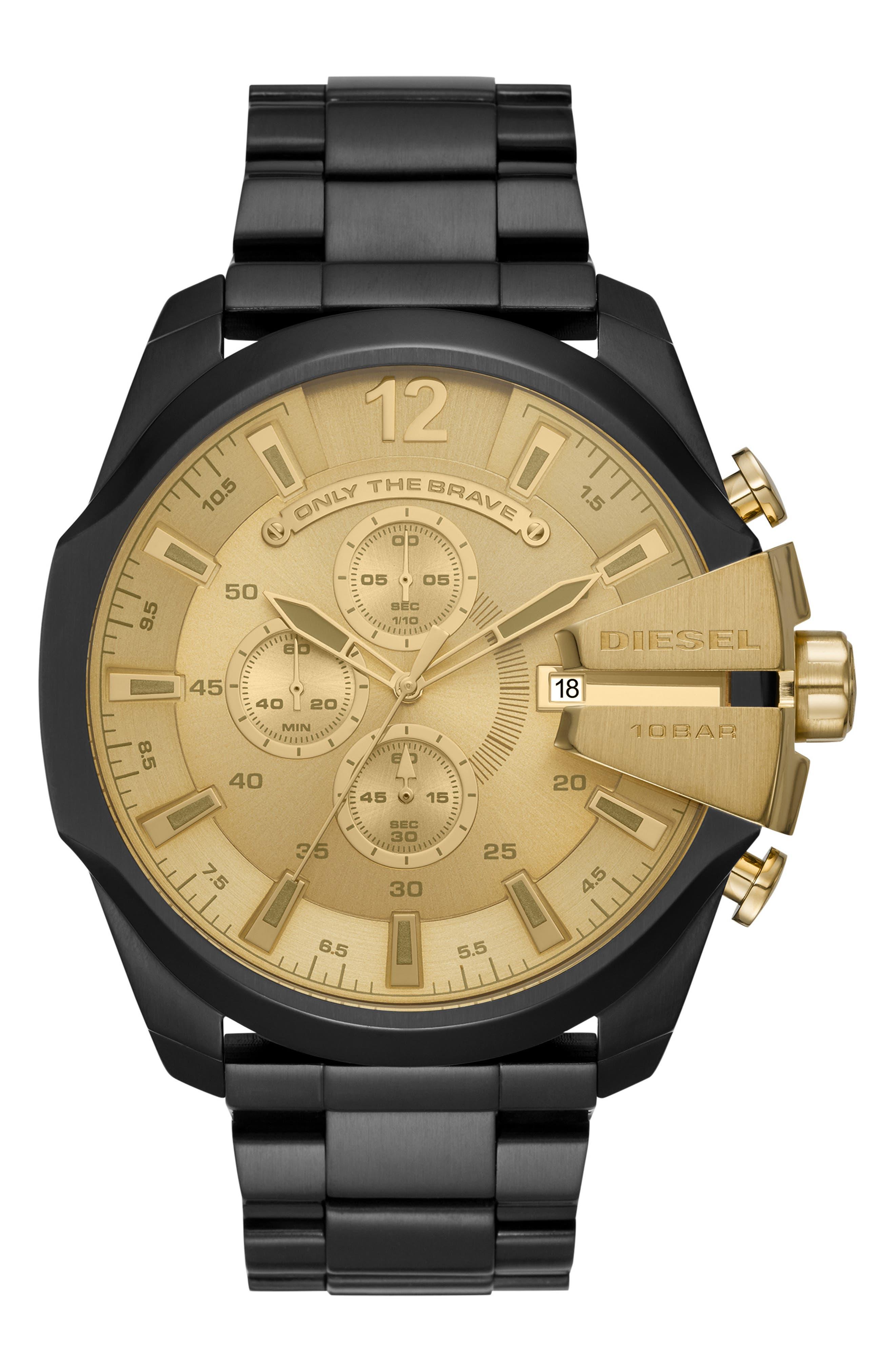 Mega Chief Chronograph Bracelet Watch, 51mm,                             Main thumbnail 1, color,                             001