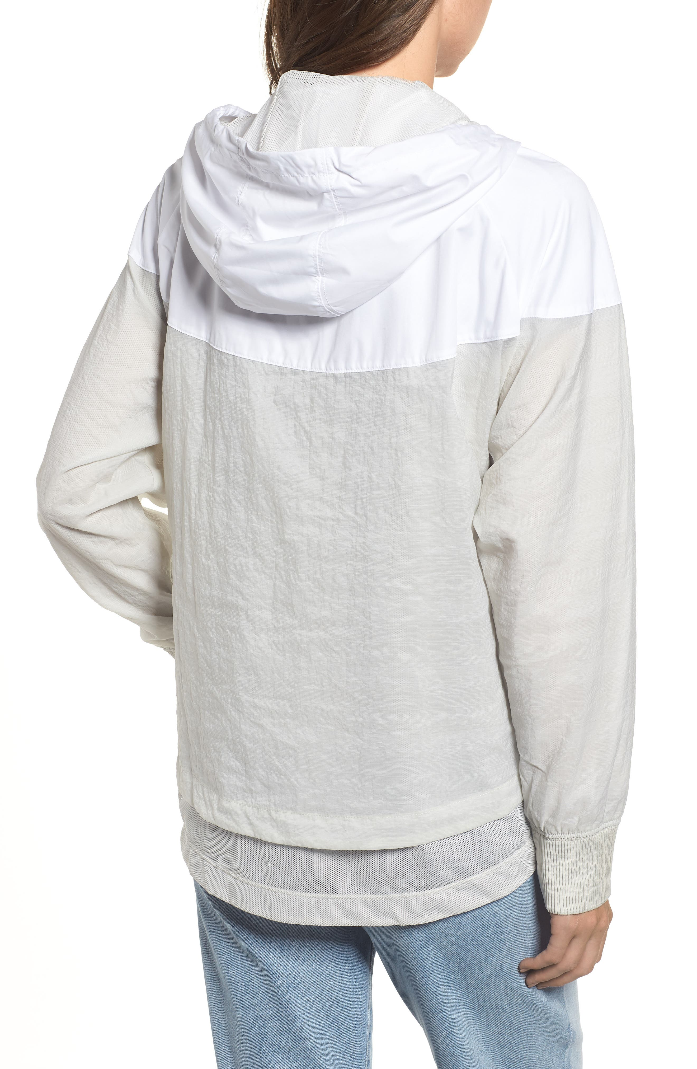 Sportswear Women's Windrunner Water Repellent Jacket,                             Alternate thumbnail 4, color,                             WHITE/ LIGHT BONE/ LIGHT BONE