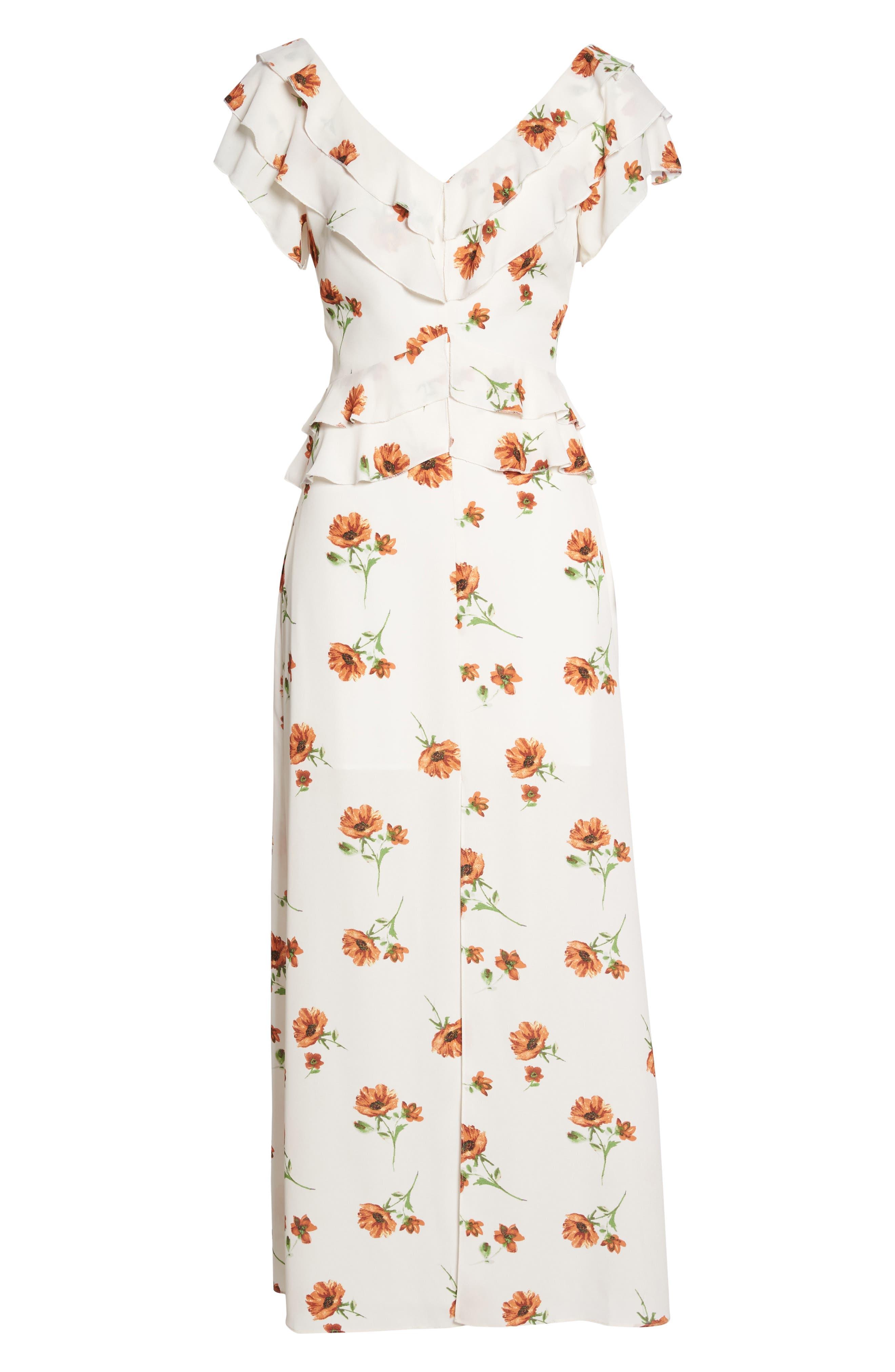 Darling Nikki Floral Maxi Dress,                             Alternate thumbnail 7, color,                             100