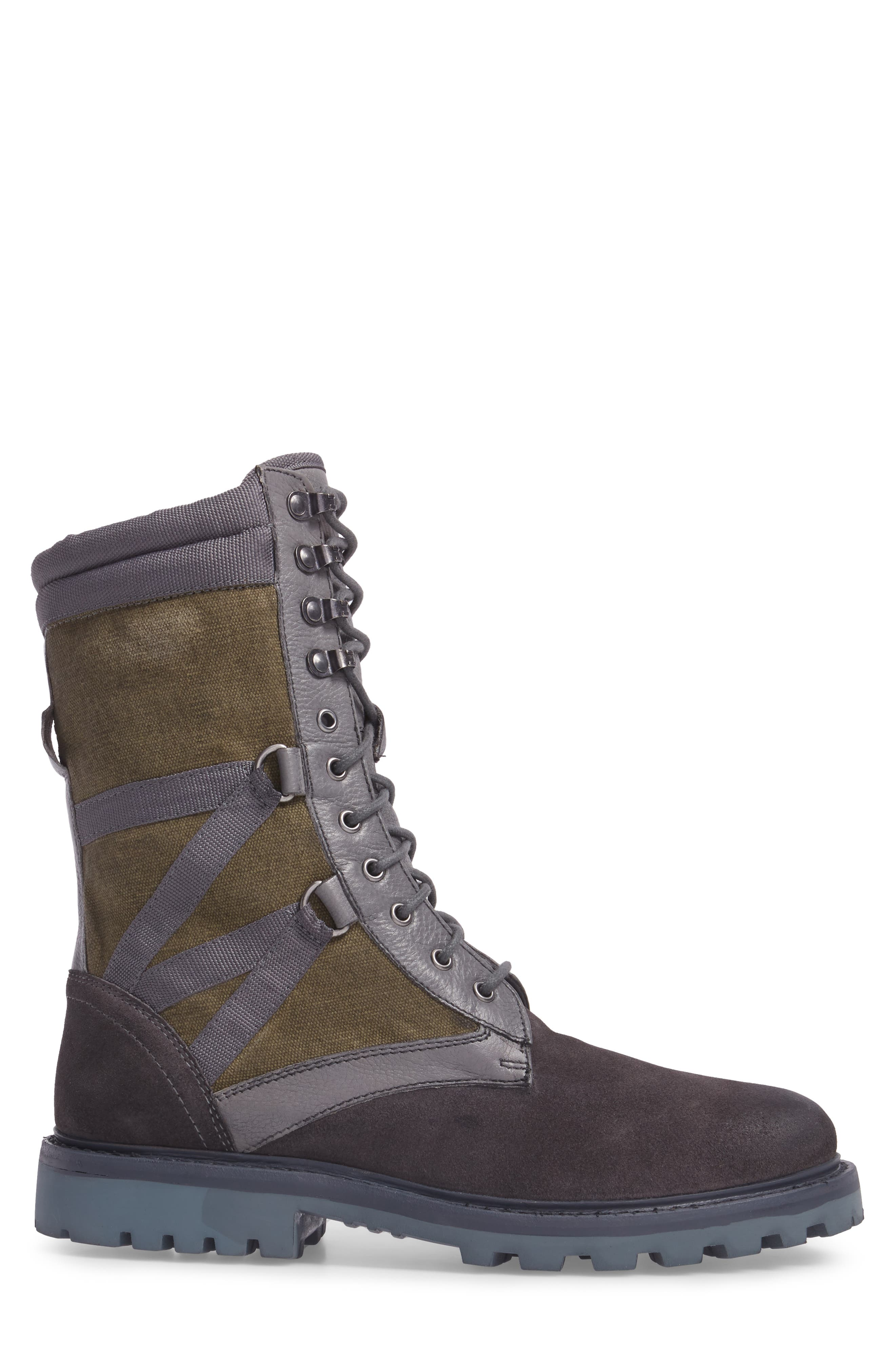 Combat Ultra Force Boot,                             Alternate thumbnail 3, color,                             GREY SUEDE