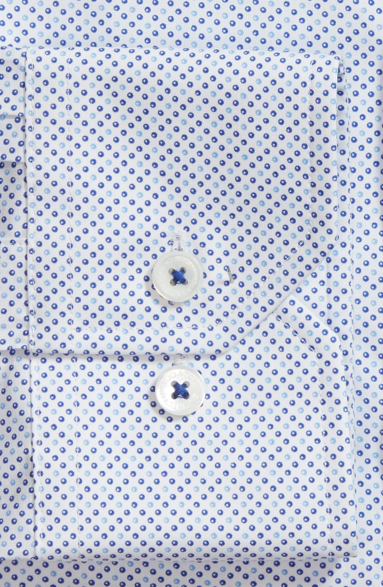 Trim Fit Dot Dress Shirt,                             Alternate thumbnail 2, color,                             422