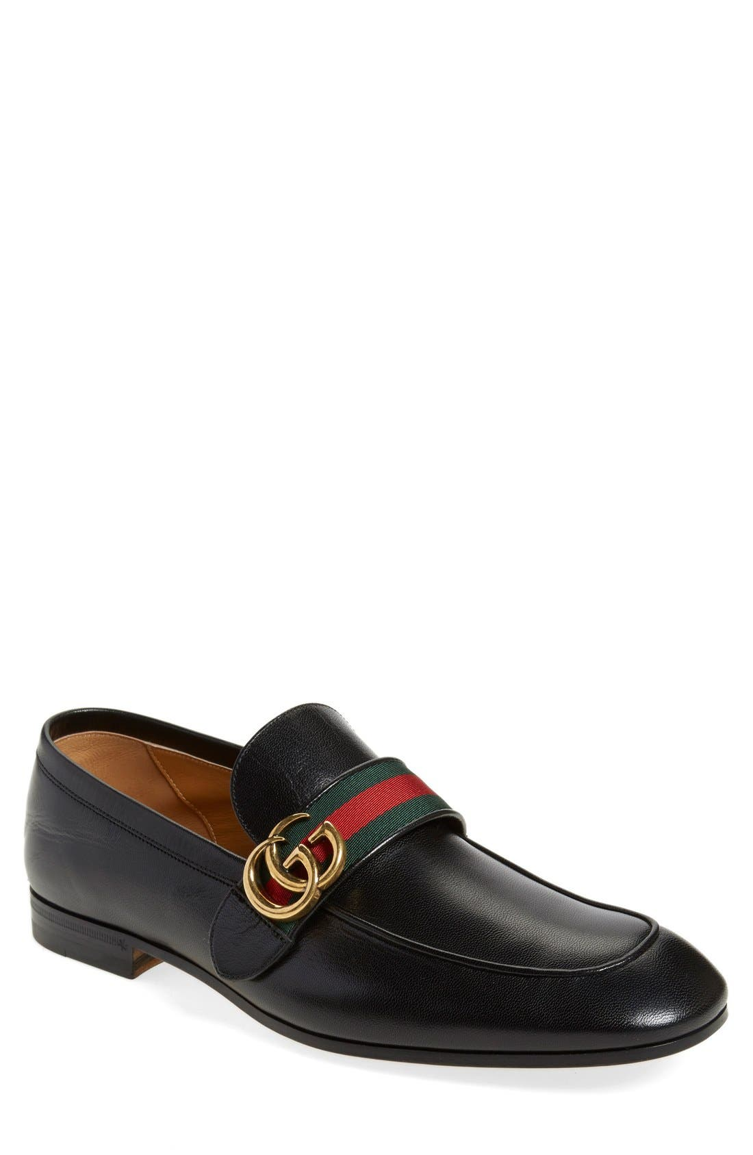 Donnie Bit Loafer,                         Main,                         color, NERO LEATHER