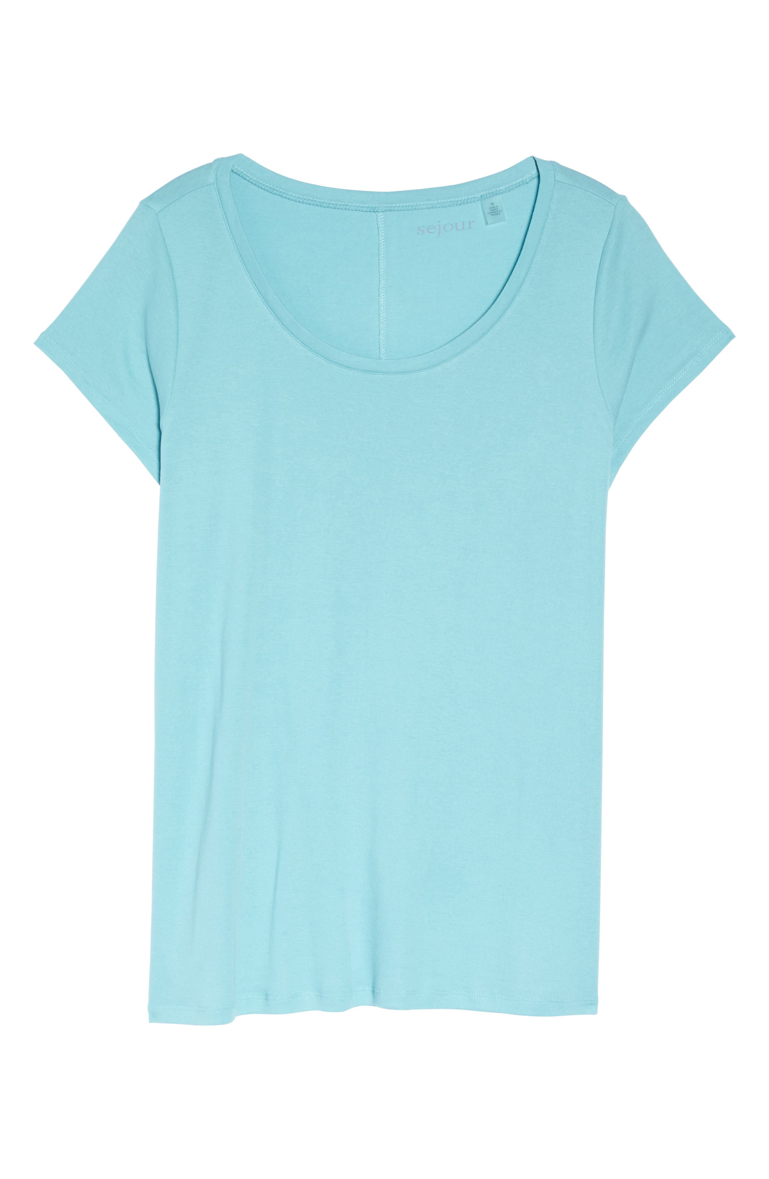 Cap Sleeve Ribbed Tee,                             Alternate thumbnail 6, color,                             420