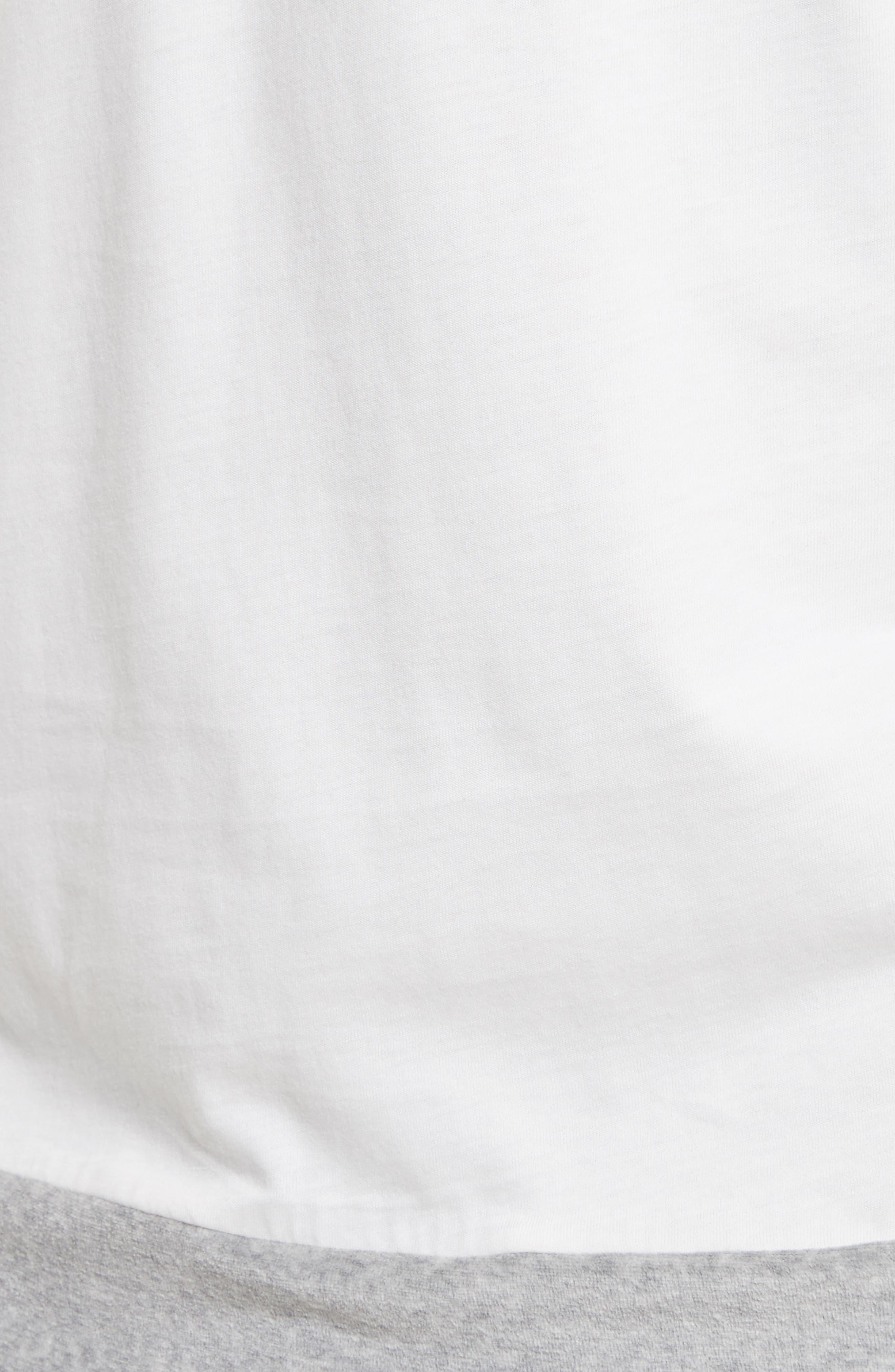 Reversible Double Layer T-Shirt,                             Alternate thumbnail 5, color,                             LIGHT GREY
