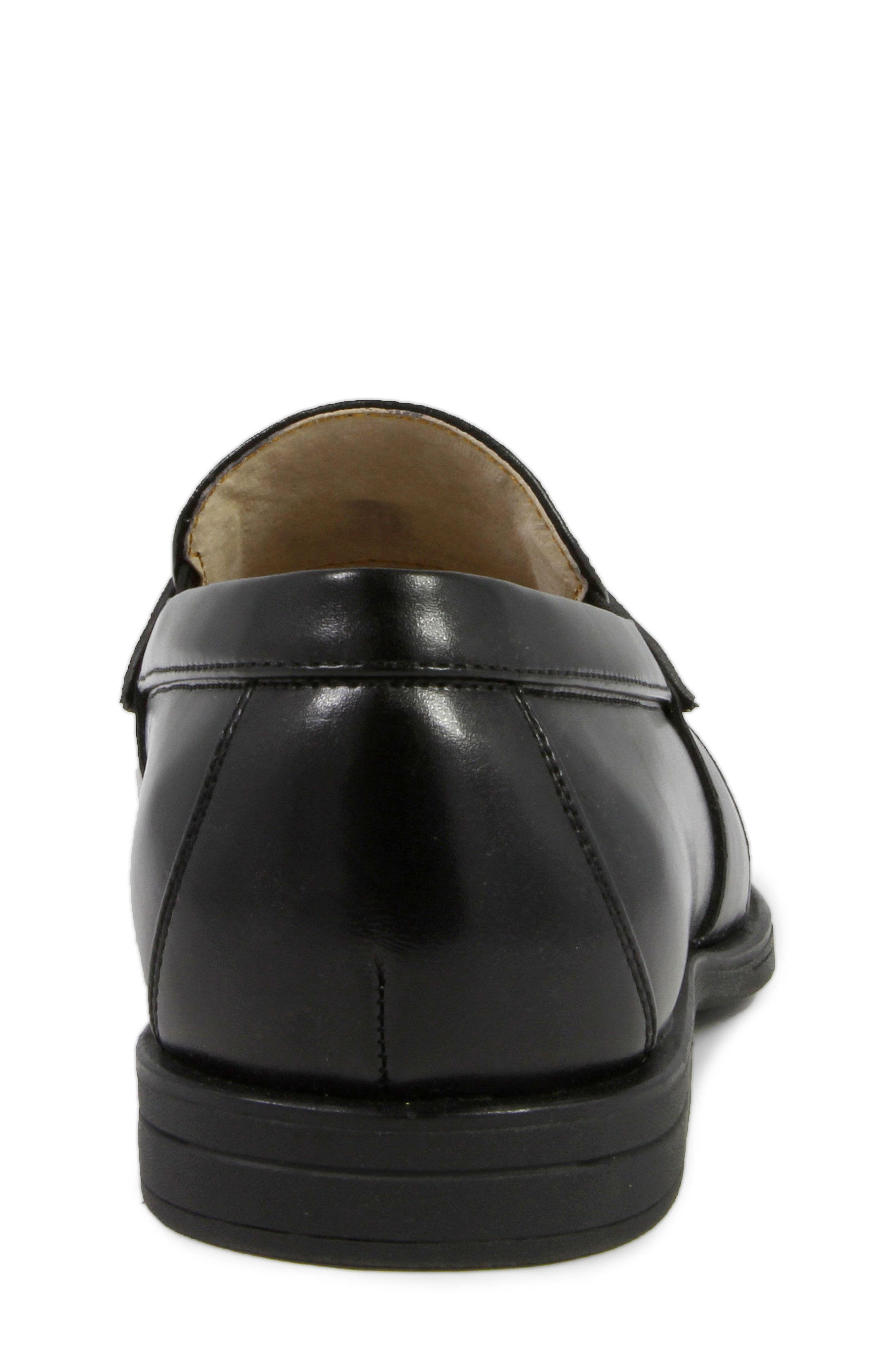 'Reveal' Penny Loafer,                             Alternate thumbnail 8, color,                             BLACK
