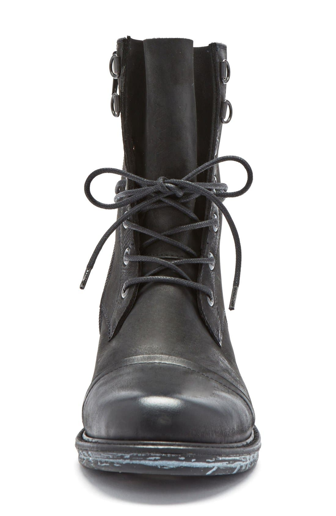 'Pyo' Waterproof Lace-Up Boot,                             Alternate thumbnail 3, color,                             001