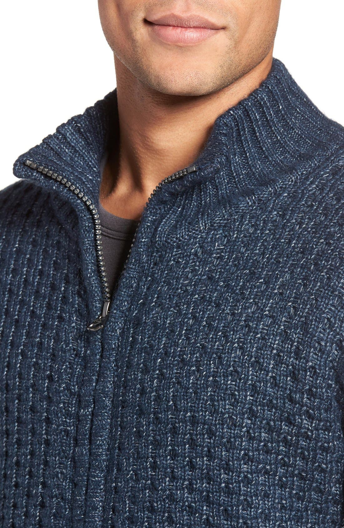 Zip Front Sherpa Sweater Jacket,                             Alternate thumbnail 7, color,                             407