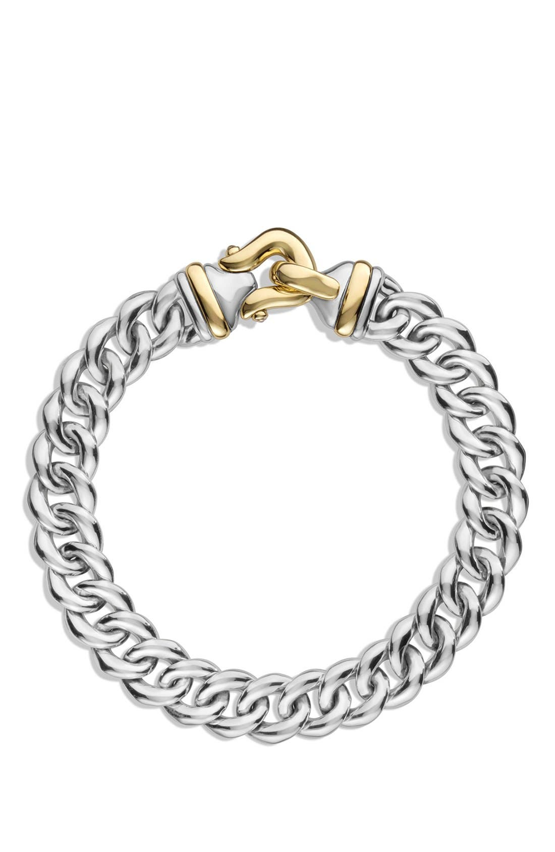 'Buckle' Single-Row Bracelet with Gold,                             Alternate thumbnail 2, color,                             TWO TONE