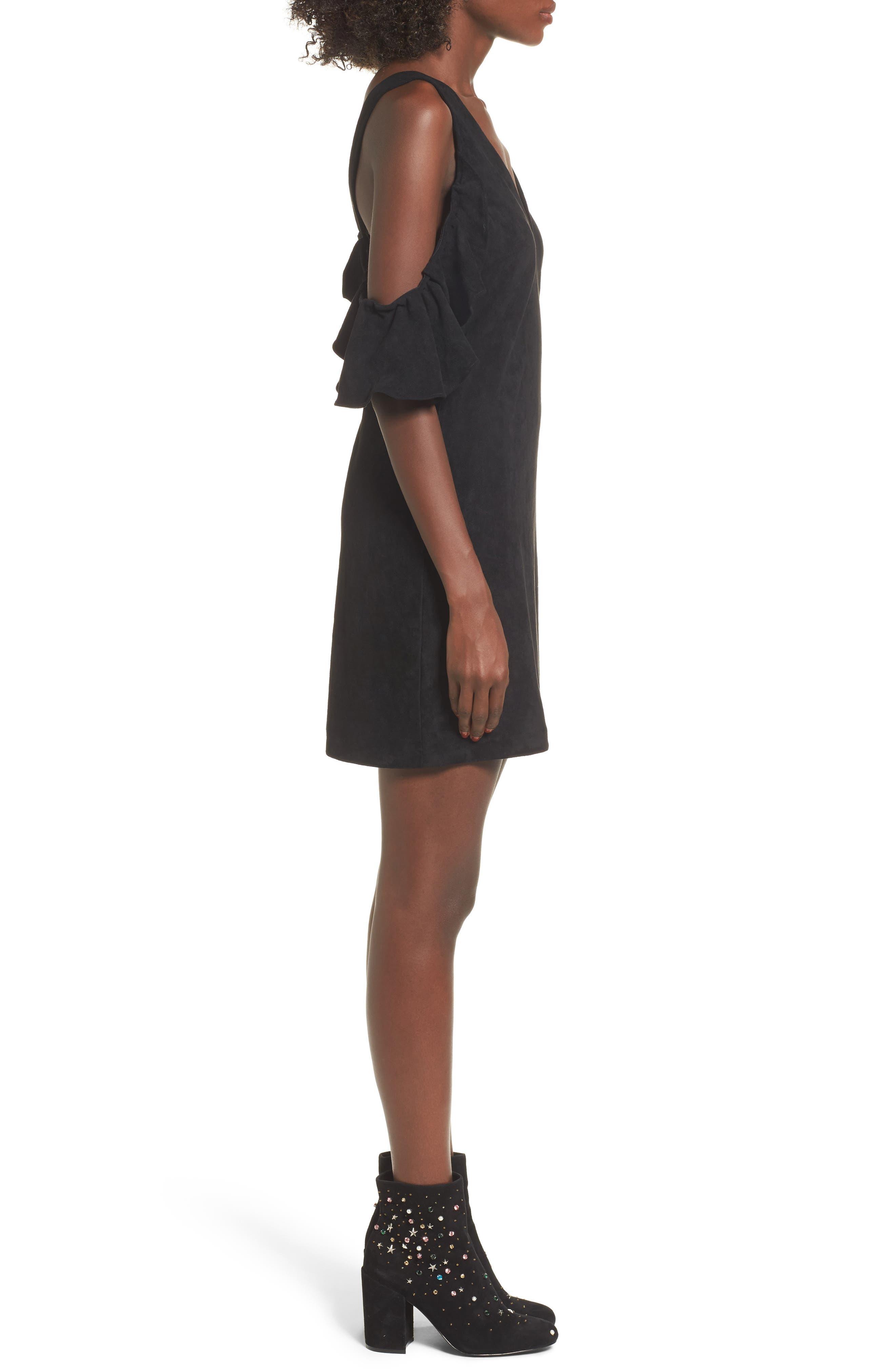Deane Cold Shoulder Sheath Dress,                             Alternate thumbnail 3, color,                             001