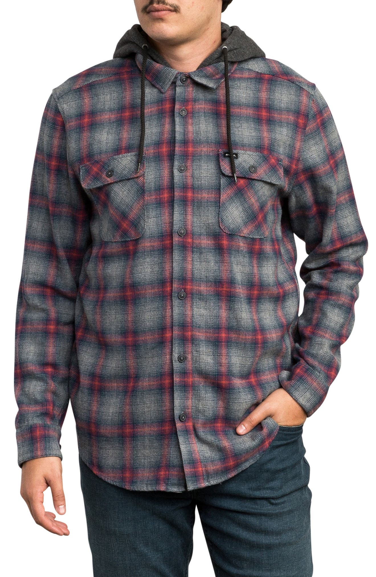 Good Hombre Shirt Jacket,                             Main thumbnail 1, color,                             GREY NOISE