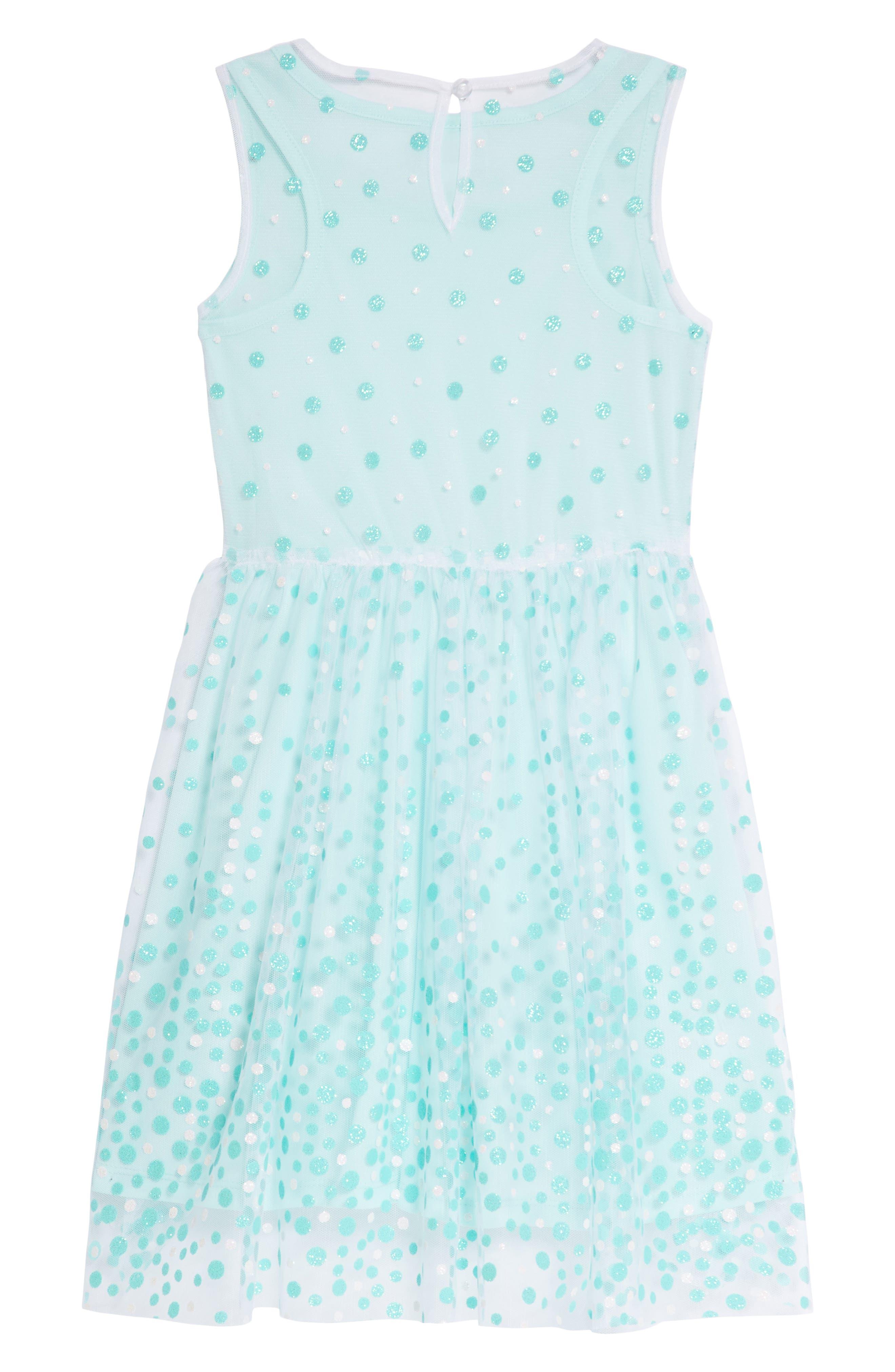 Glitter Dot Sleeveless Dress,                             Alternate thumbnail 2, color,                             440