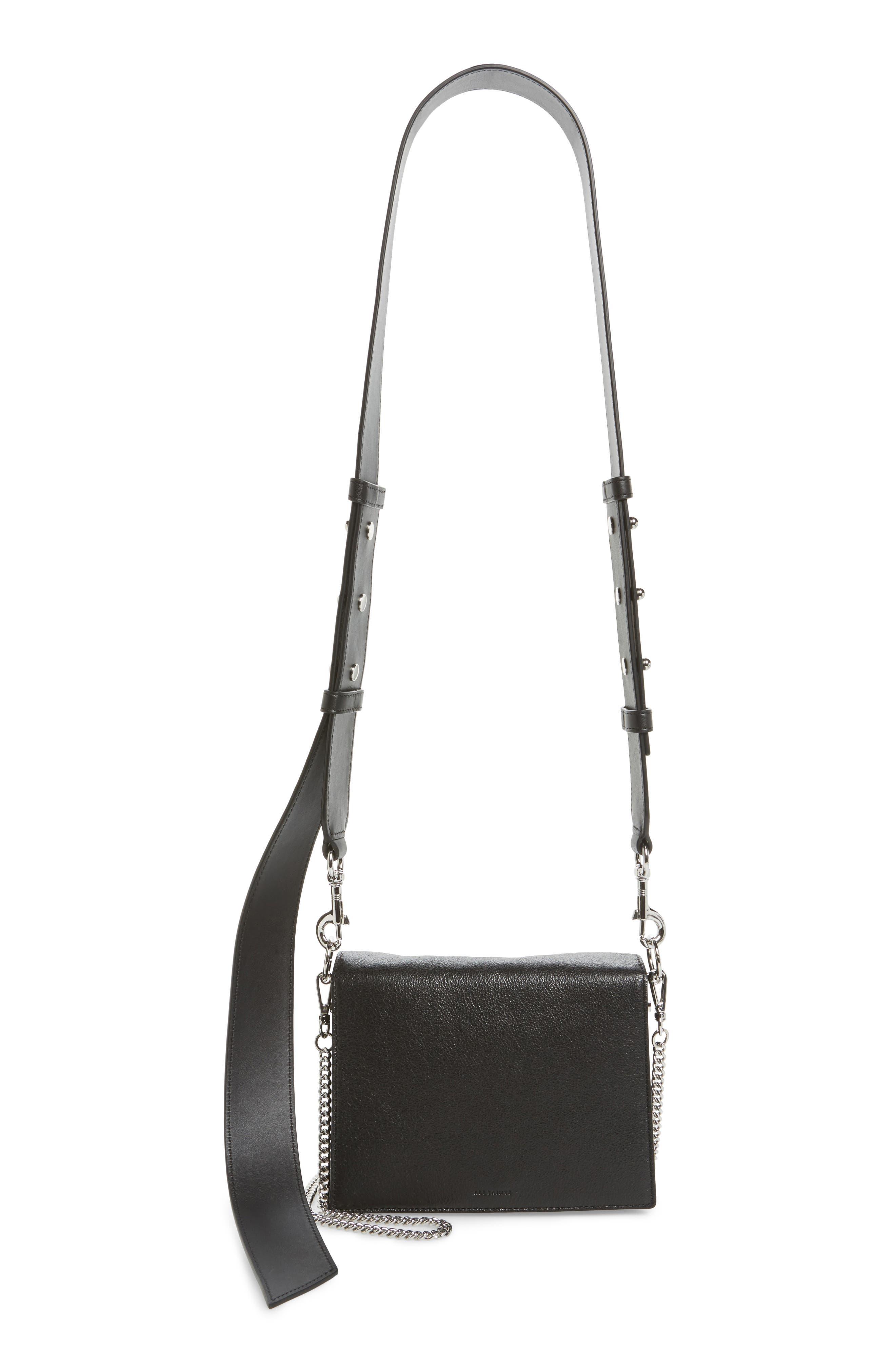 Zep Leather Shoulder Bag,                             Main thumbnail 1, color,                             001