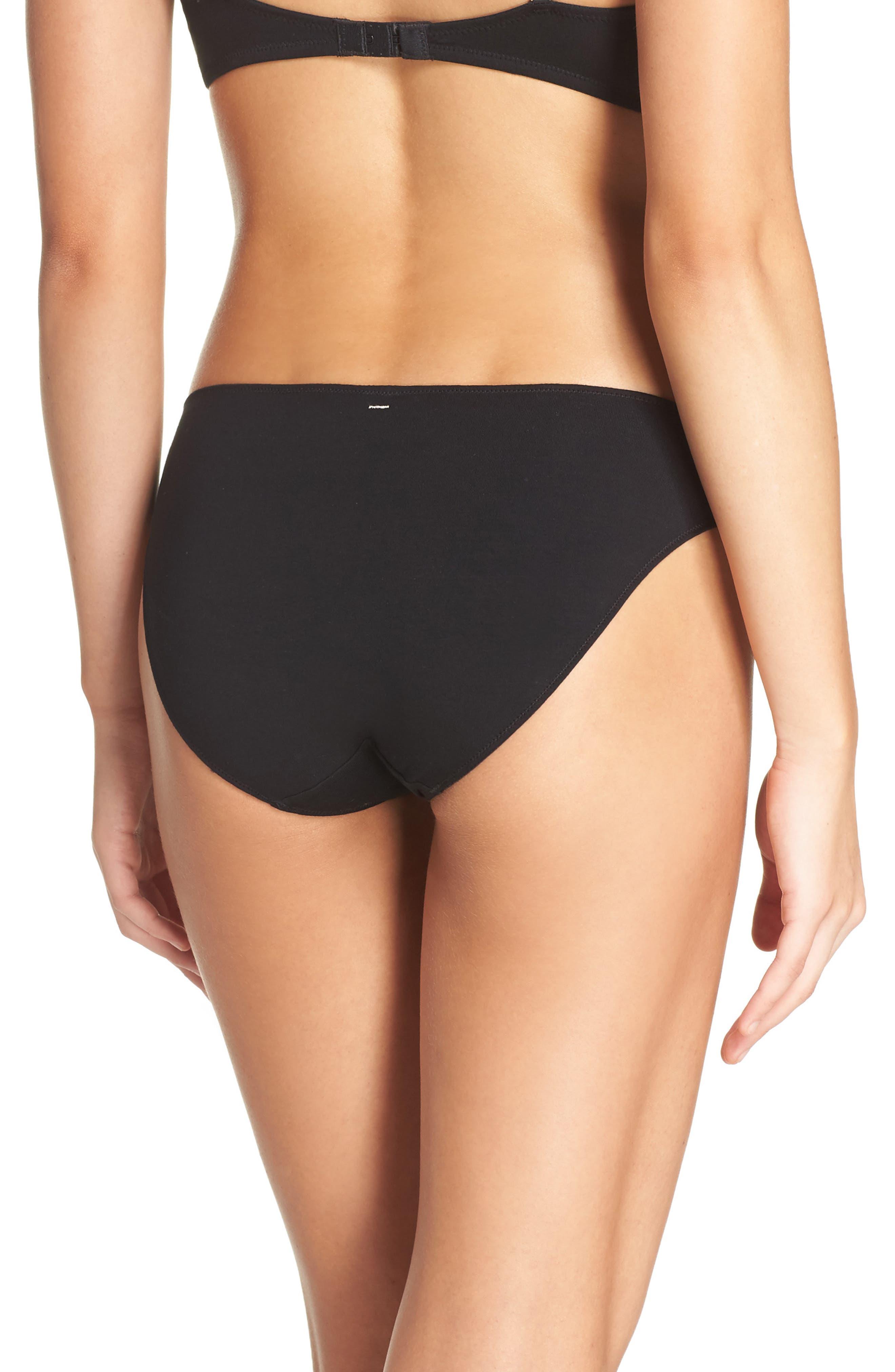 Jersey Bikini,                             Alternate thumbnail 2, color,                             TRUE BLACK