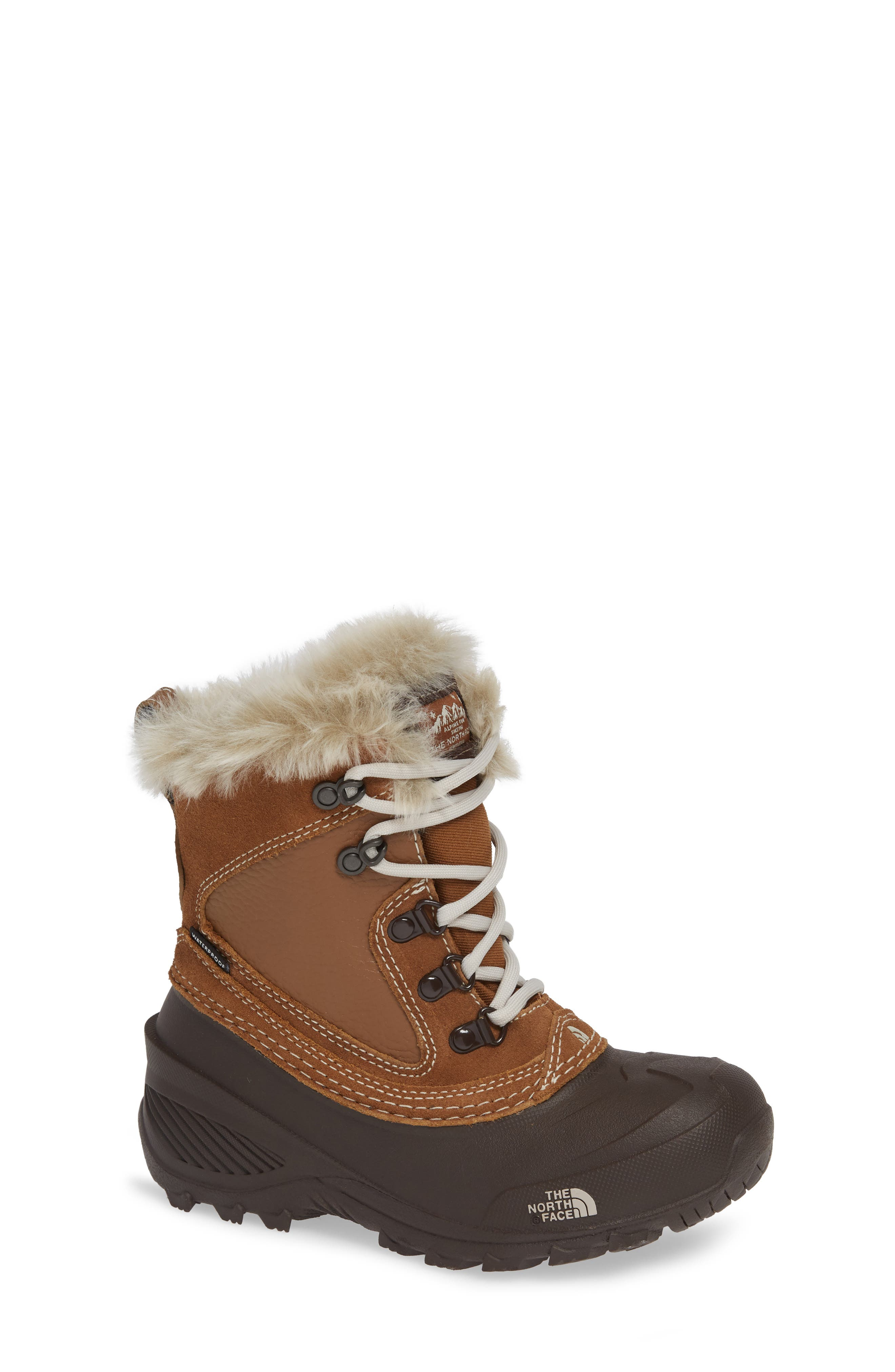 Girls The North Face Shellista Extreme Waterproof Insulated Boot With Faux Fur Trim Size 6 M  Brown