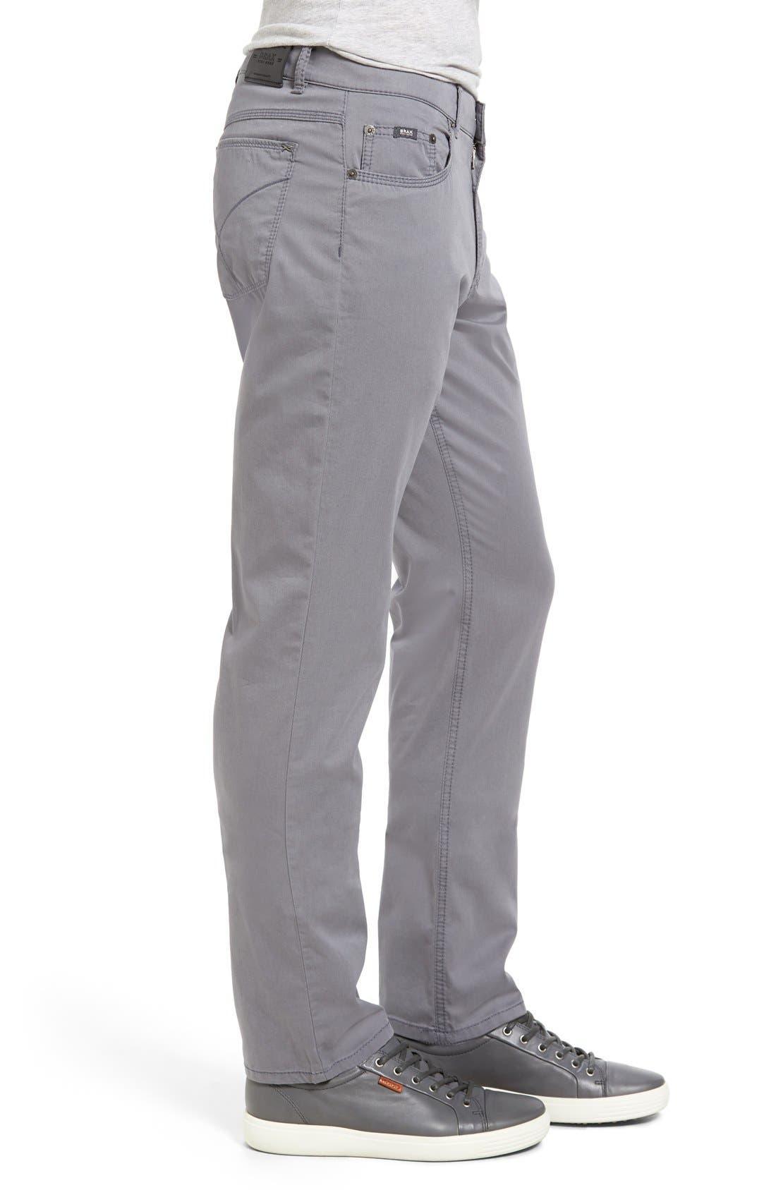 BRAX,                             Cooper Prestige Stretch Cotton Pants,                             Alternate thumbnail 9, color,                             GRAPHITE