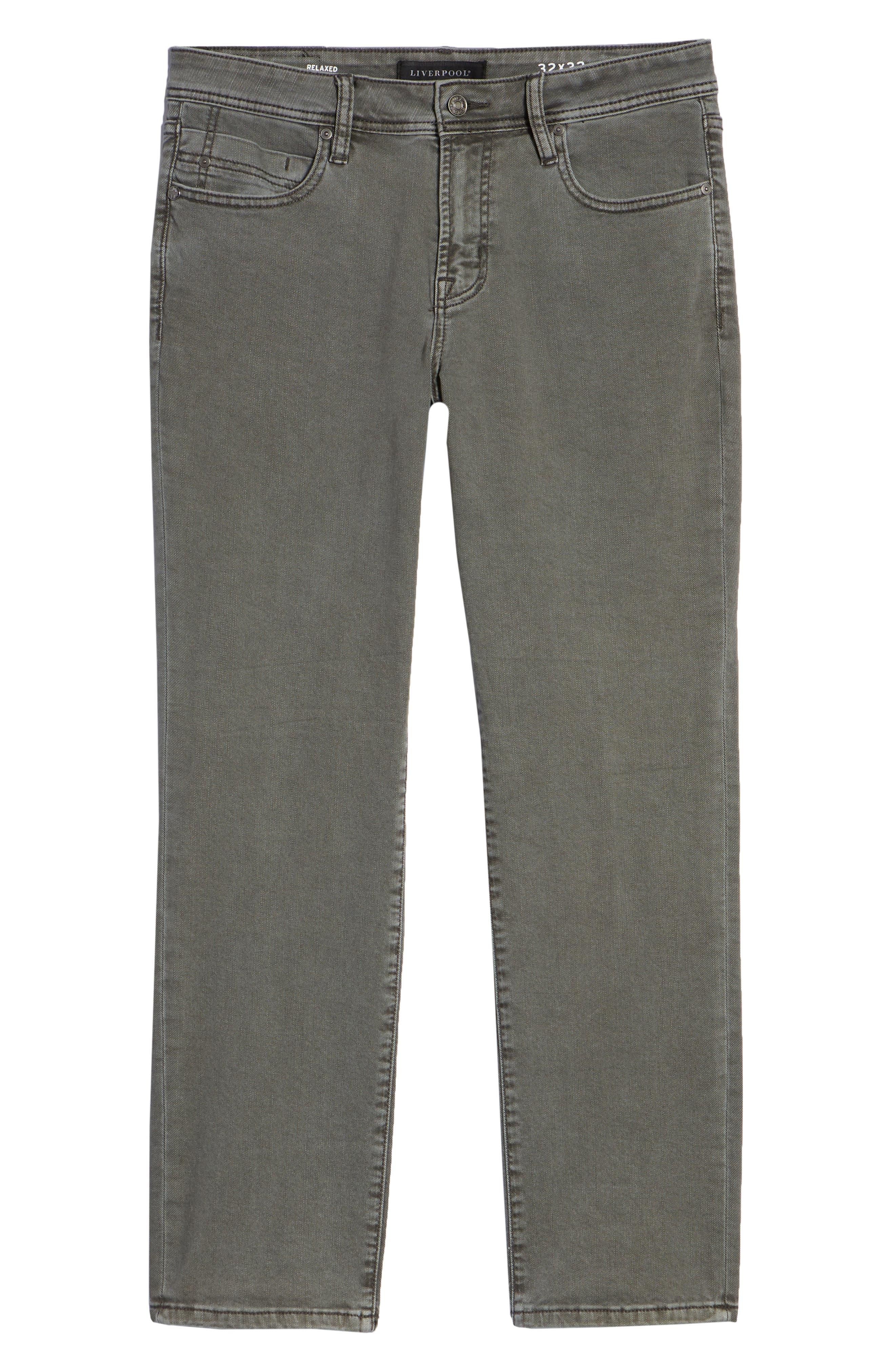 Regent Relaxed Fit Jeans,                             Alternate thumbnail 6, color,                             GUNMETAL
