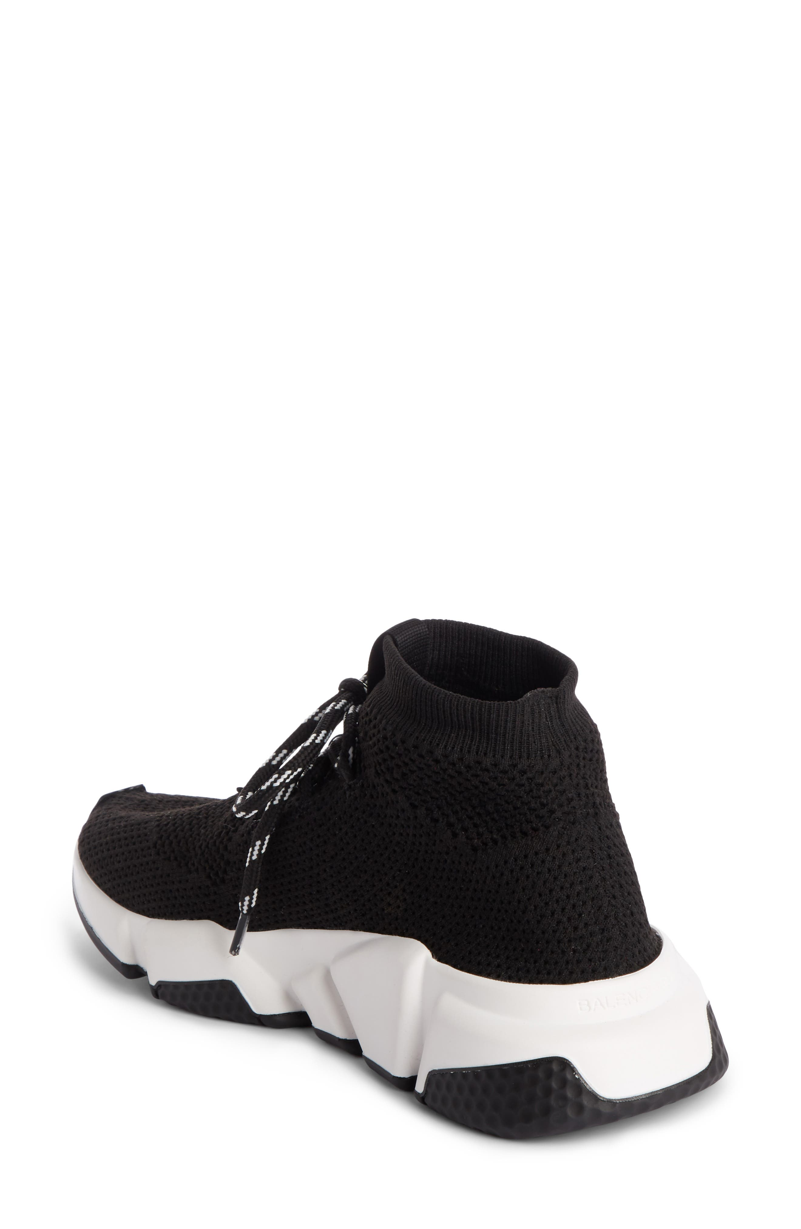 Low Speed Lace-Up Sneaker,                             Alternate thumbnail 2, color,                             BLACK