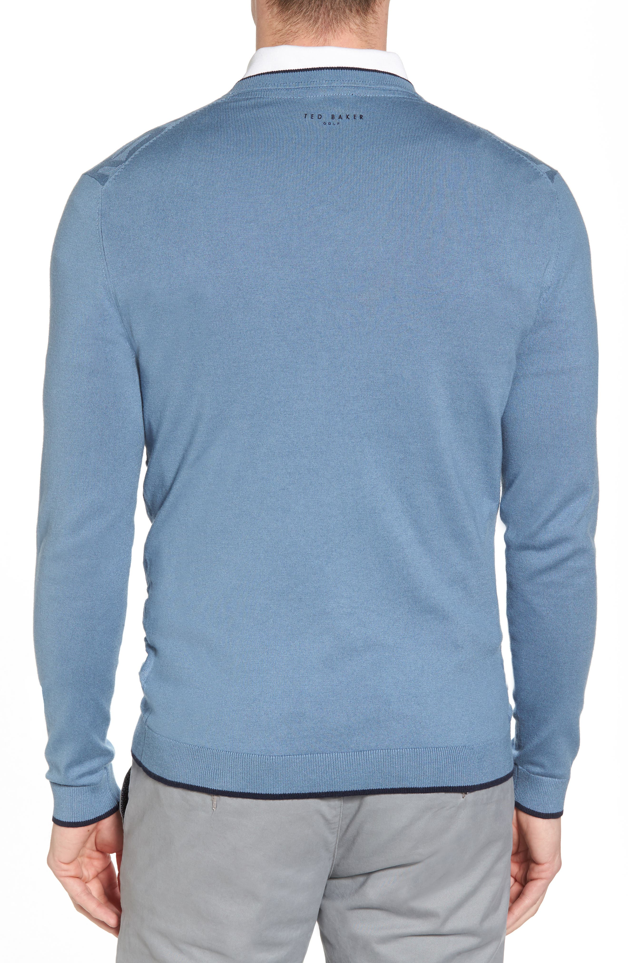 Armstro Tipped Golf Tee Sweater,                             Alternate thumbnail 8, color,