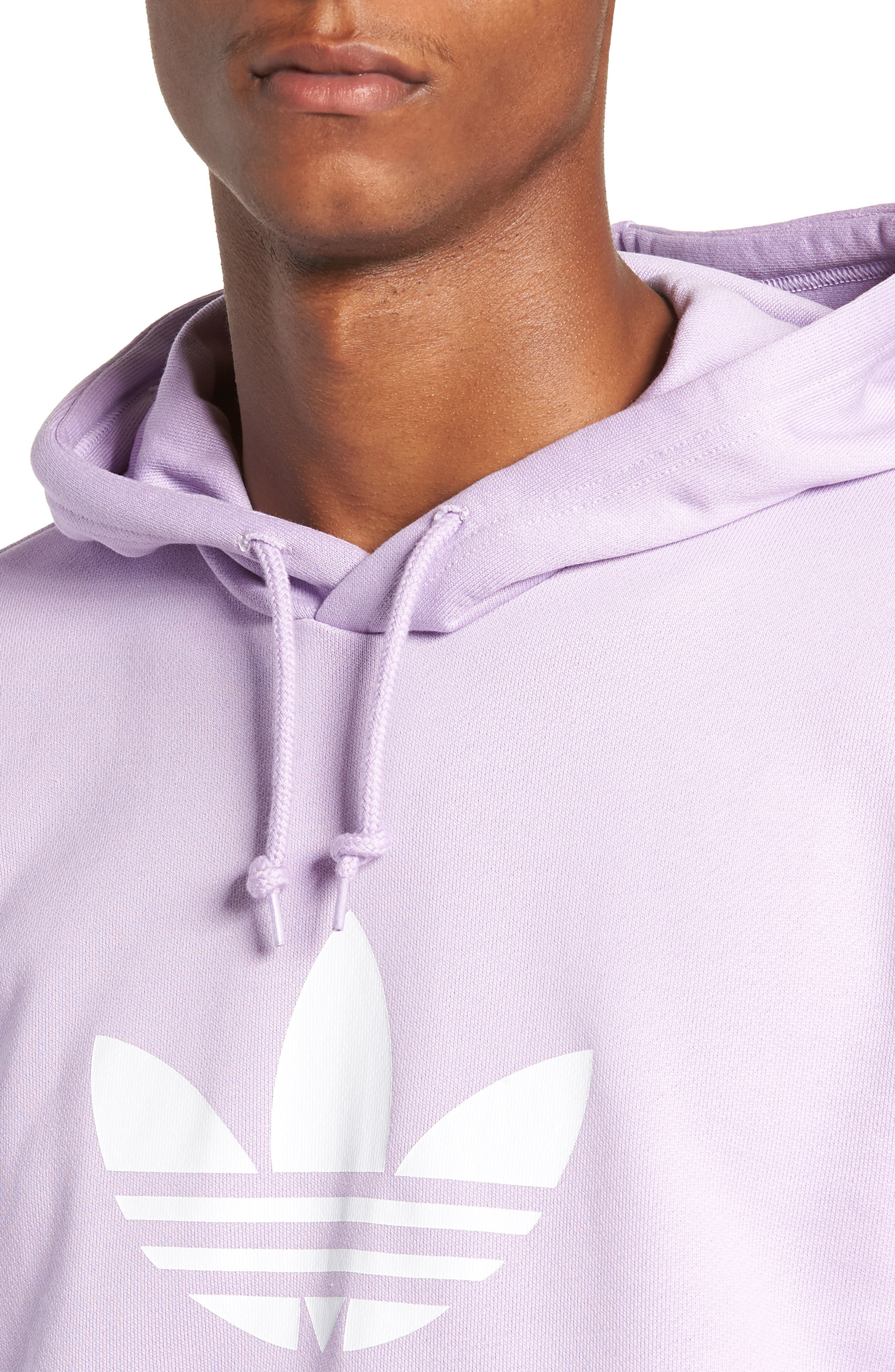 Trefoil Sweatshirt,                             Alternate thumbnail 8, color,