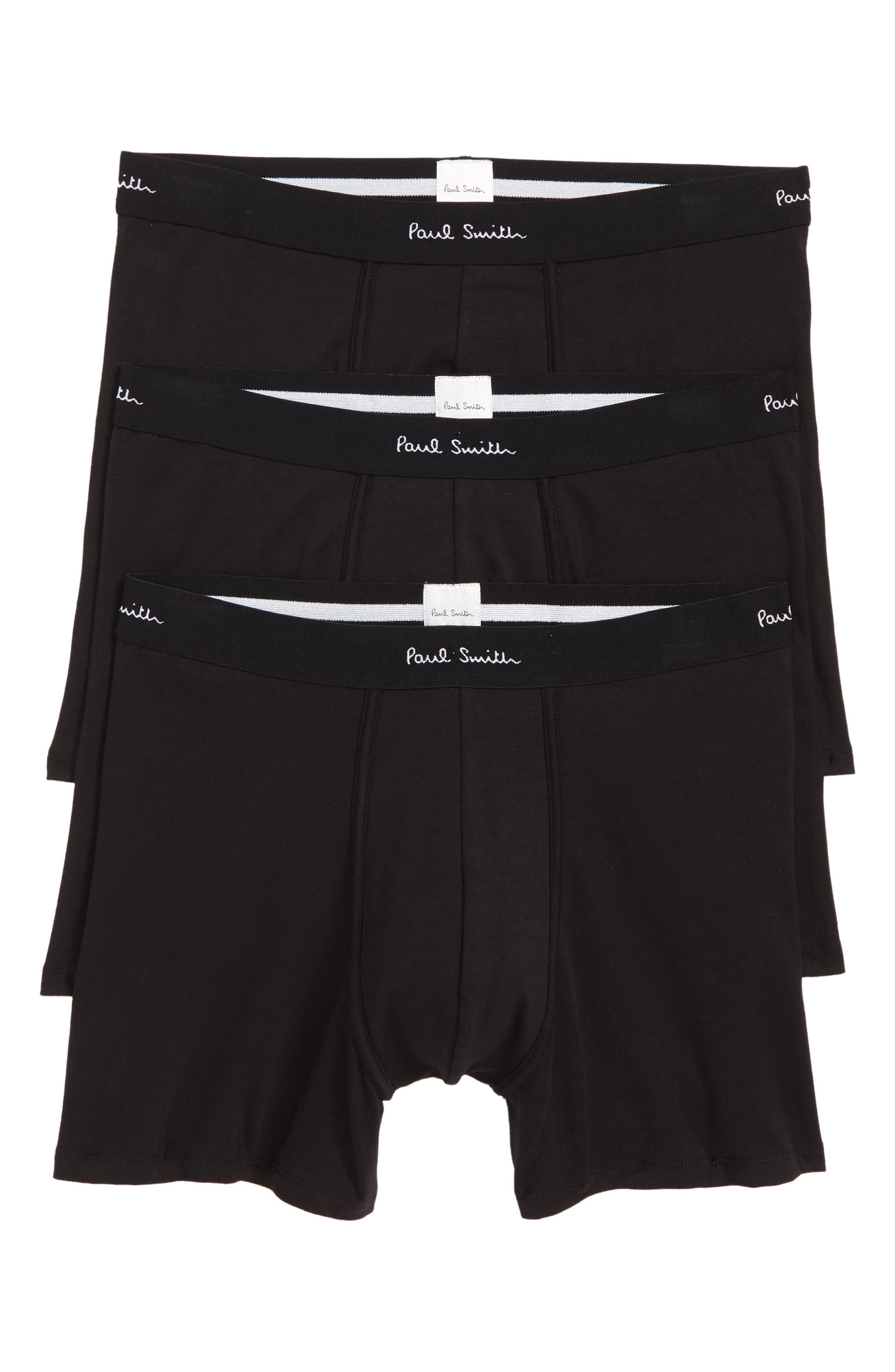 3-Pack Trunks,                         Main,                         color, BLACK