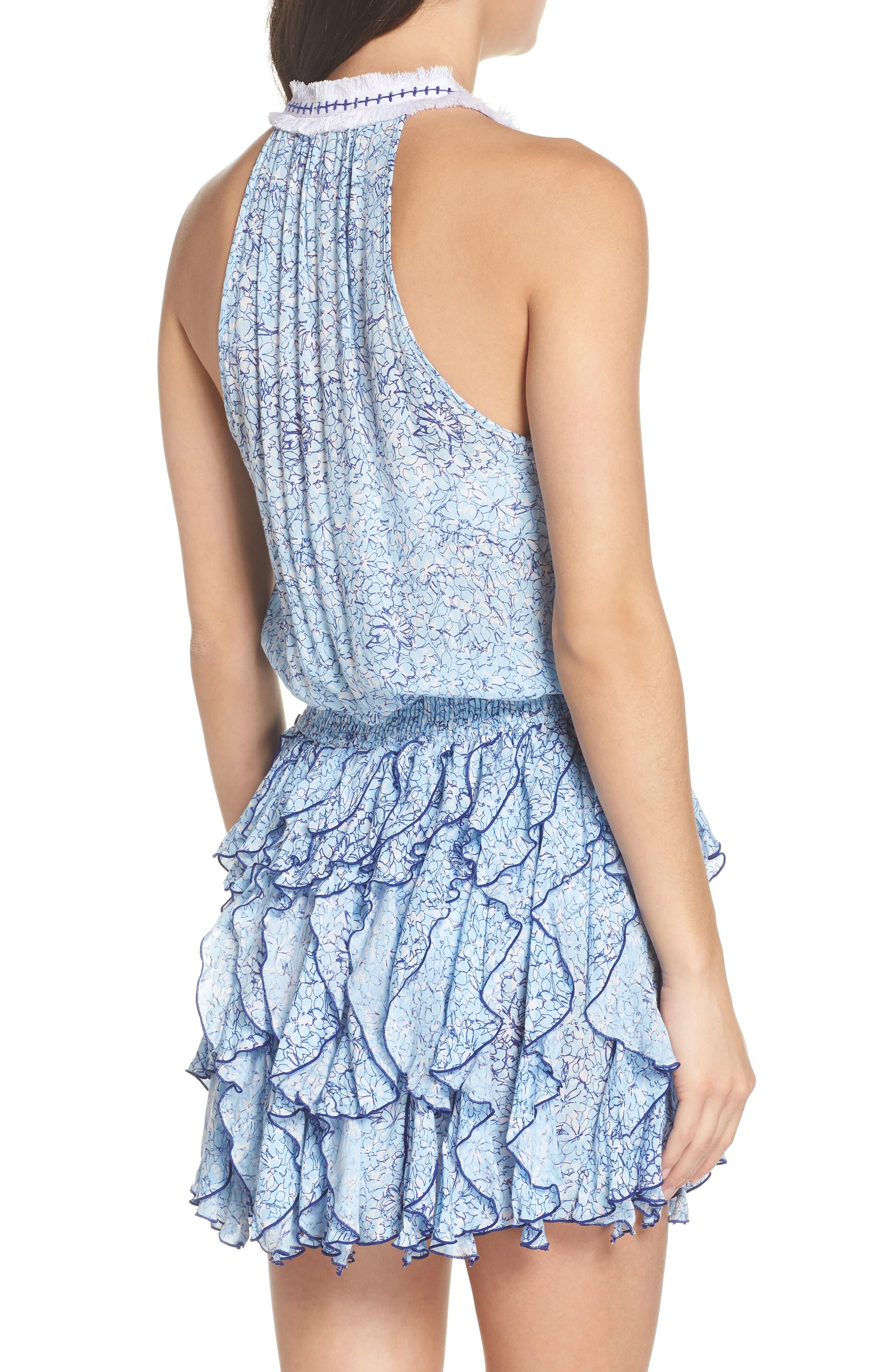 Poupette St. Barth Beline Cover-Up Dress,                             Alternate thumbnail 2, color,                             BLUE JOY