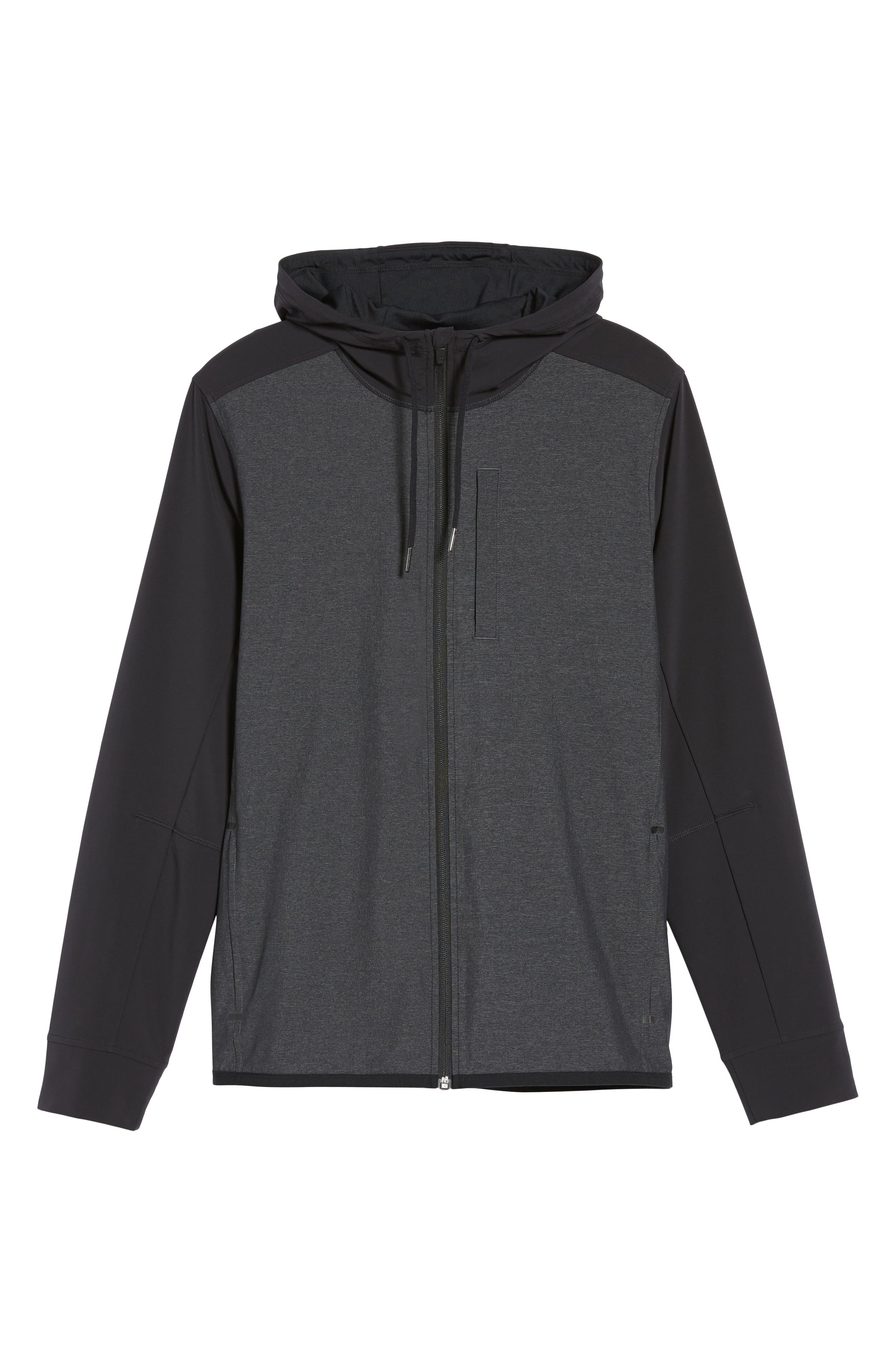 Knit & Woven Hoodie,                             Alternate thumbnail 5, color,                             021