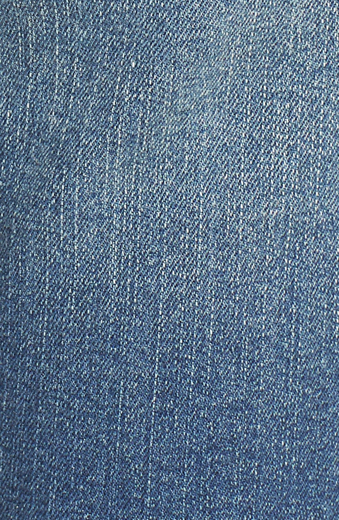 TINSEL,                             Fray Hem Denim Bermuda Shorts,                             Alternate thumbnail 6, color,                             400