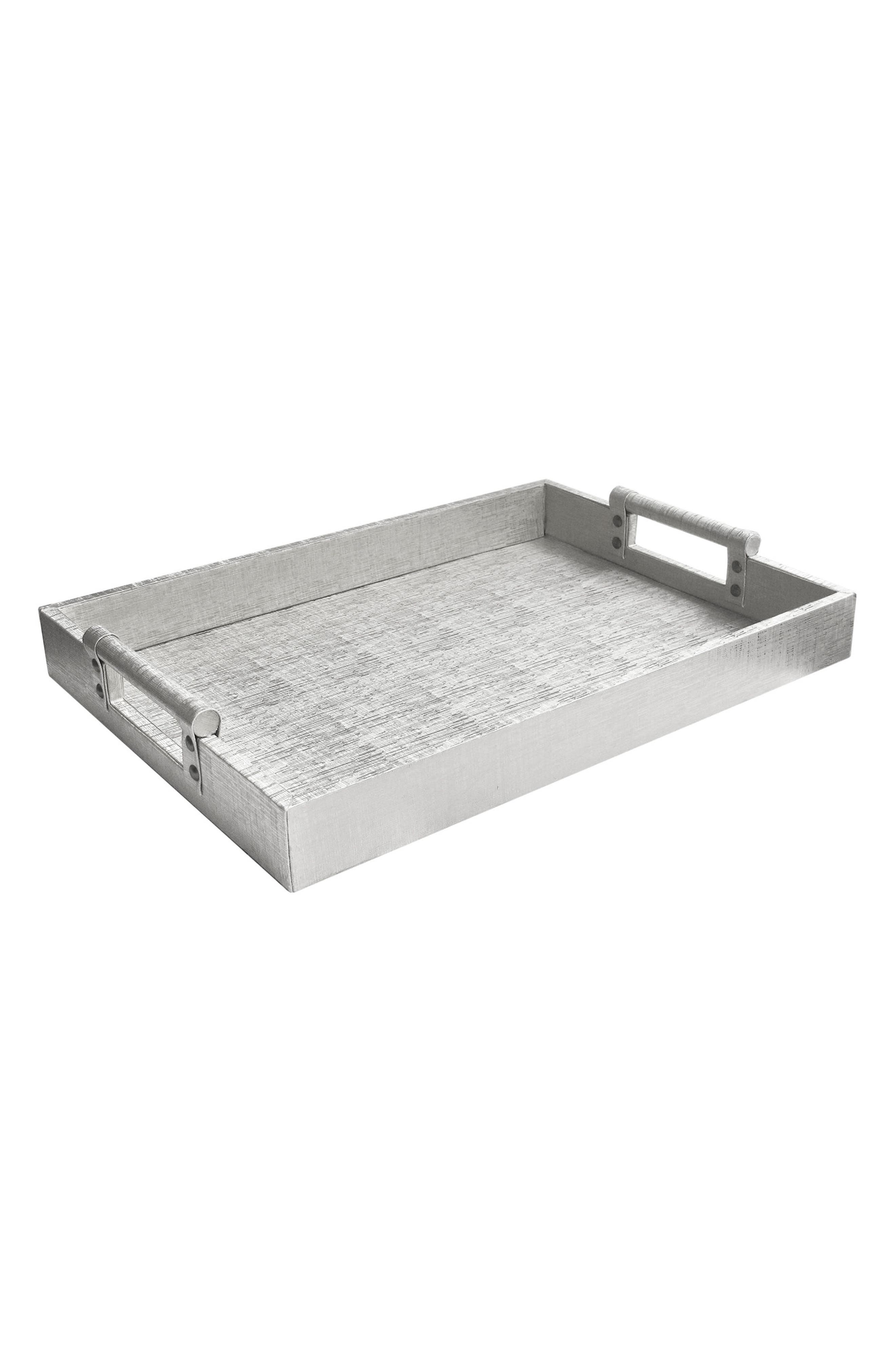 Metallic Leather Serving Tray,                             Main thumbnail 1, color,                             040