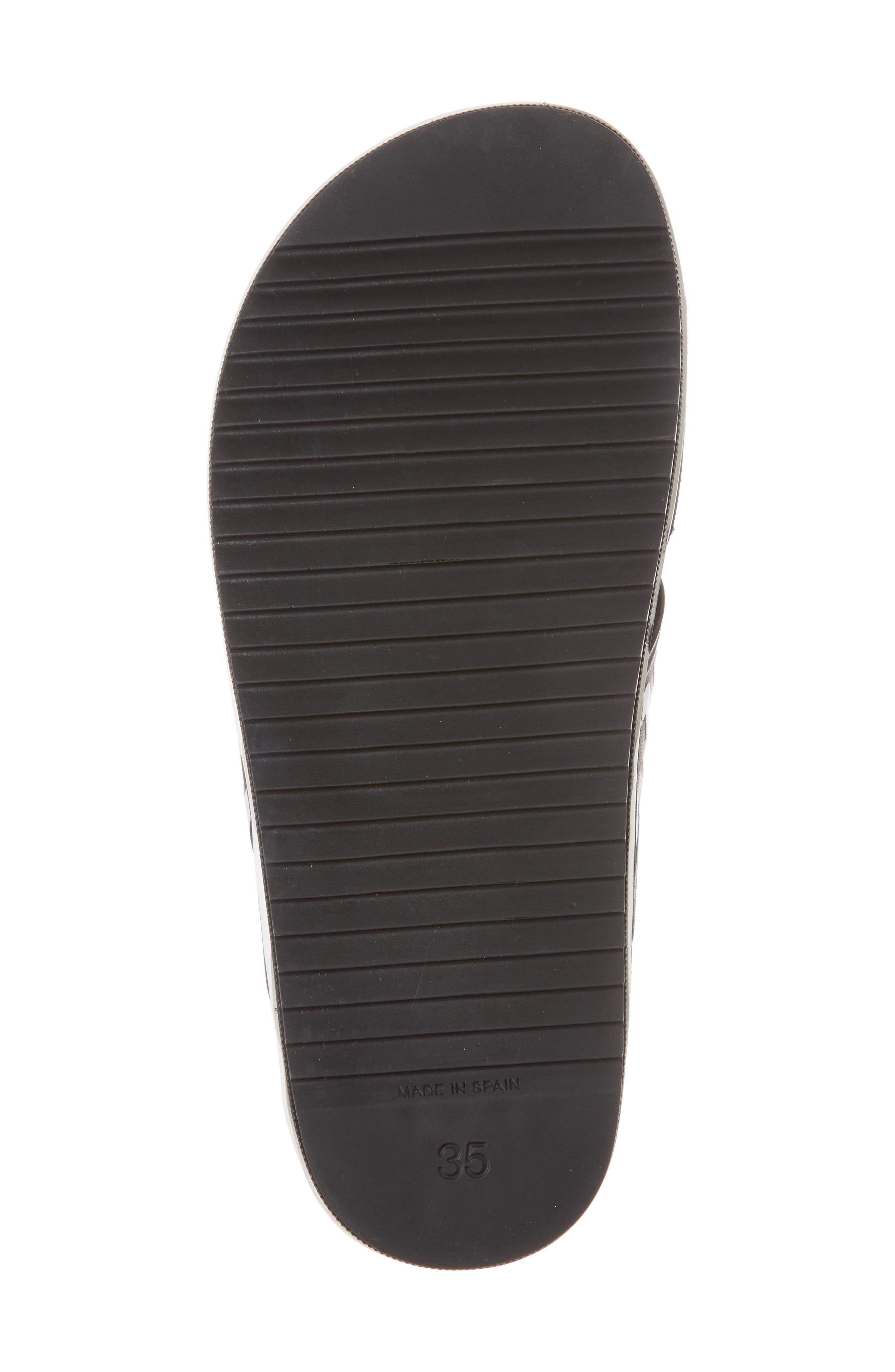 Berkeley Slide Sandal,                             Alternate thumbnail 6, color,                             BLACK MULTI