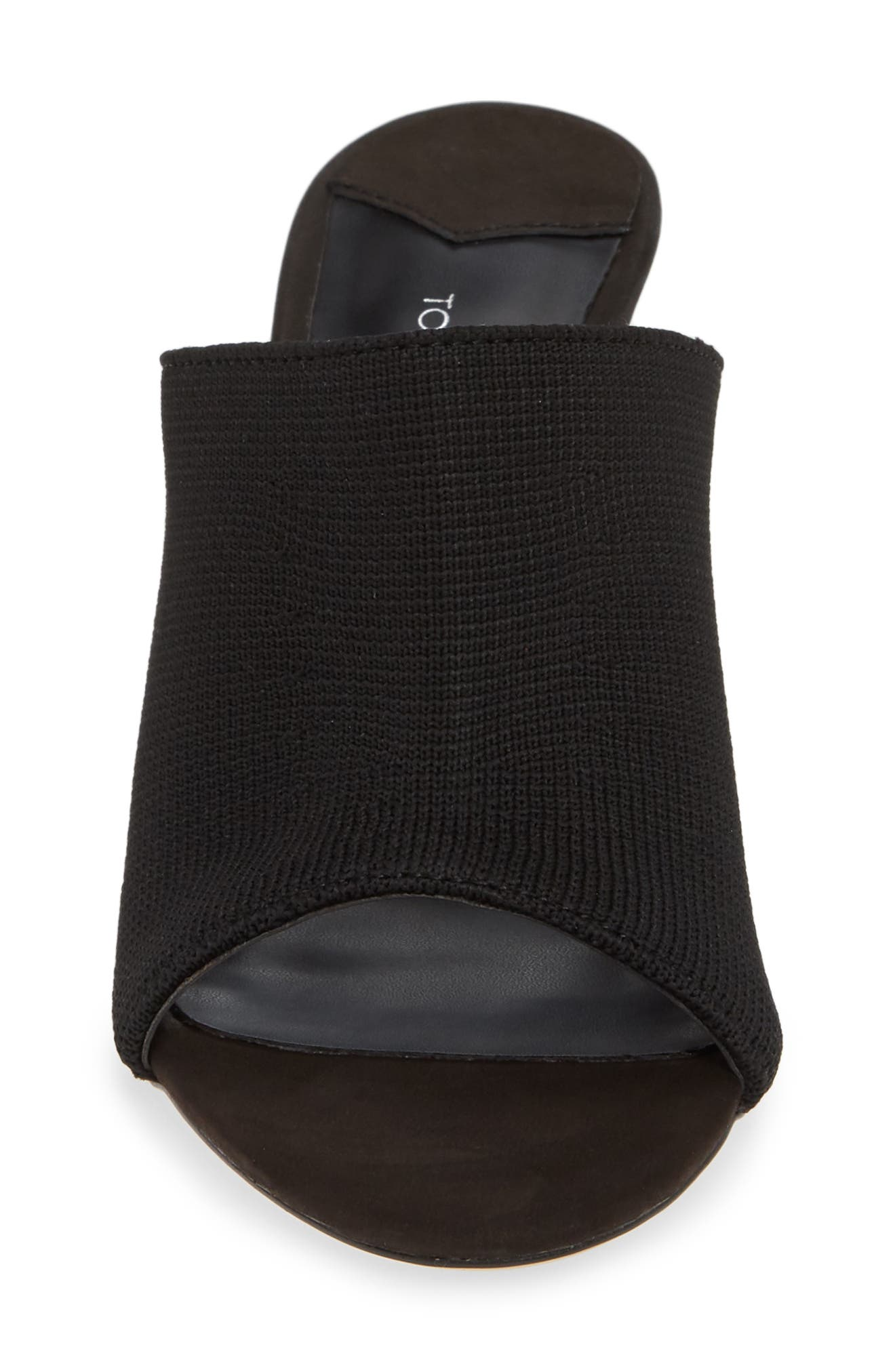 Inca Slide Sandal,                             Alternate thumbnail 4, color,                             BLACK BORDEAUX FABRIC