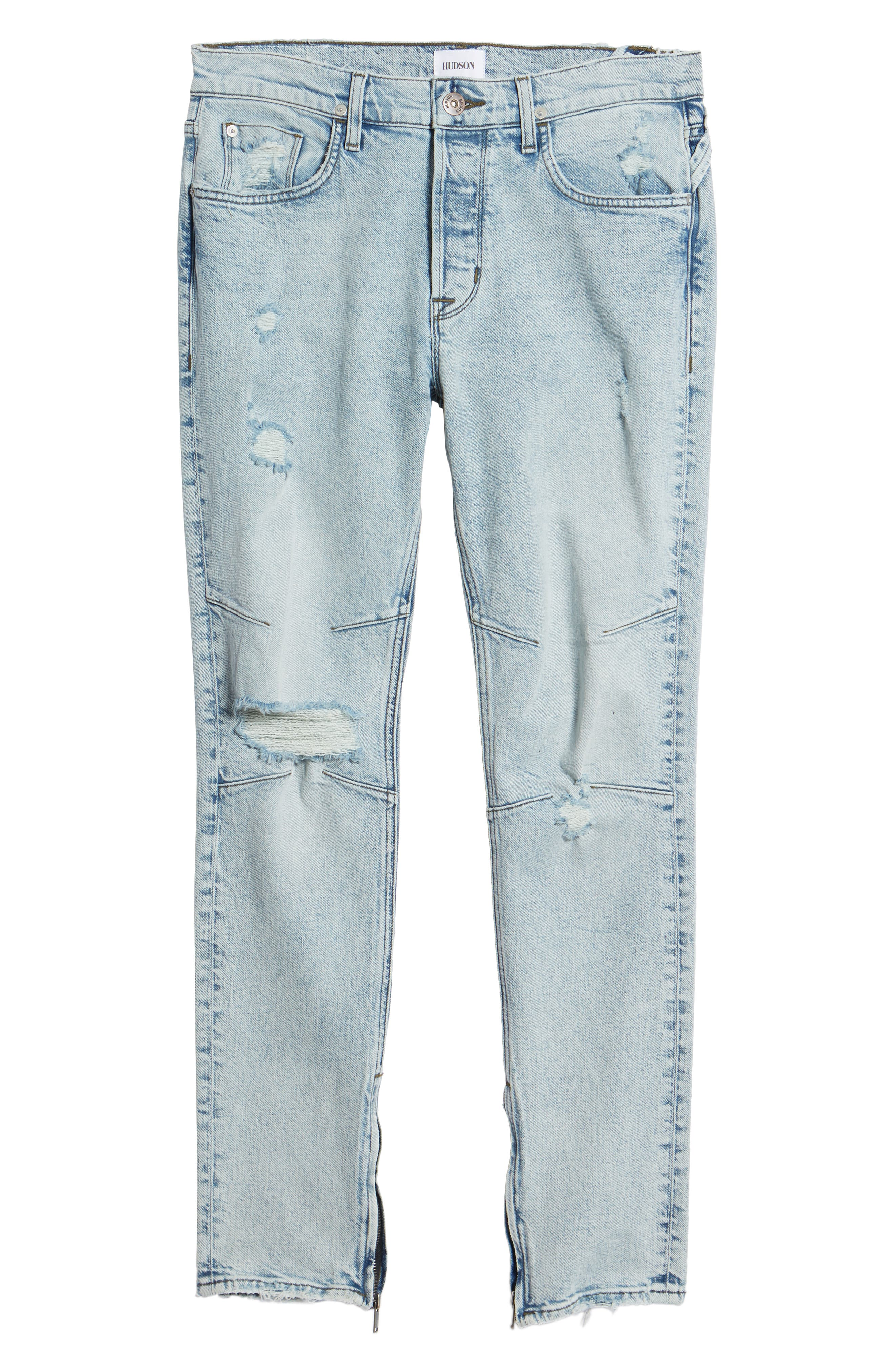 Vaughn Biker Skinny Fit Jeans,                             Alternate thumbnail 6, color,                             ECHO PARK
