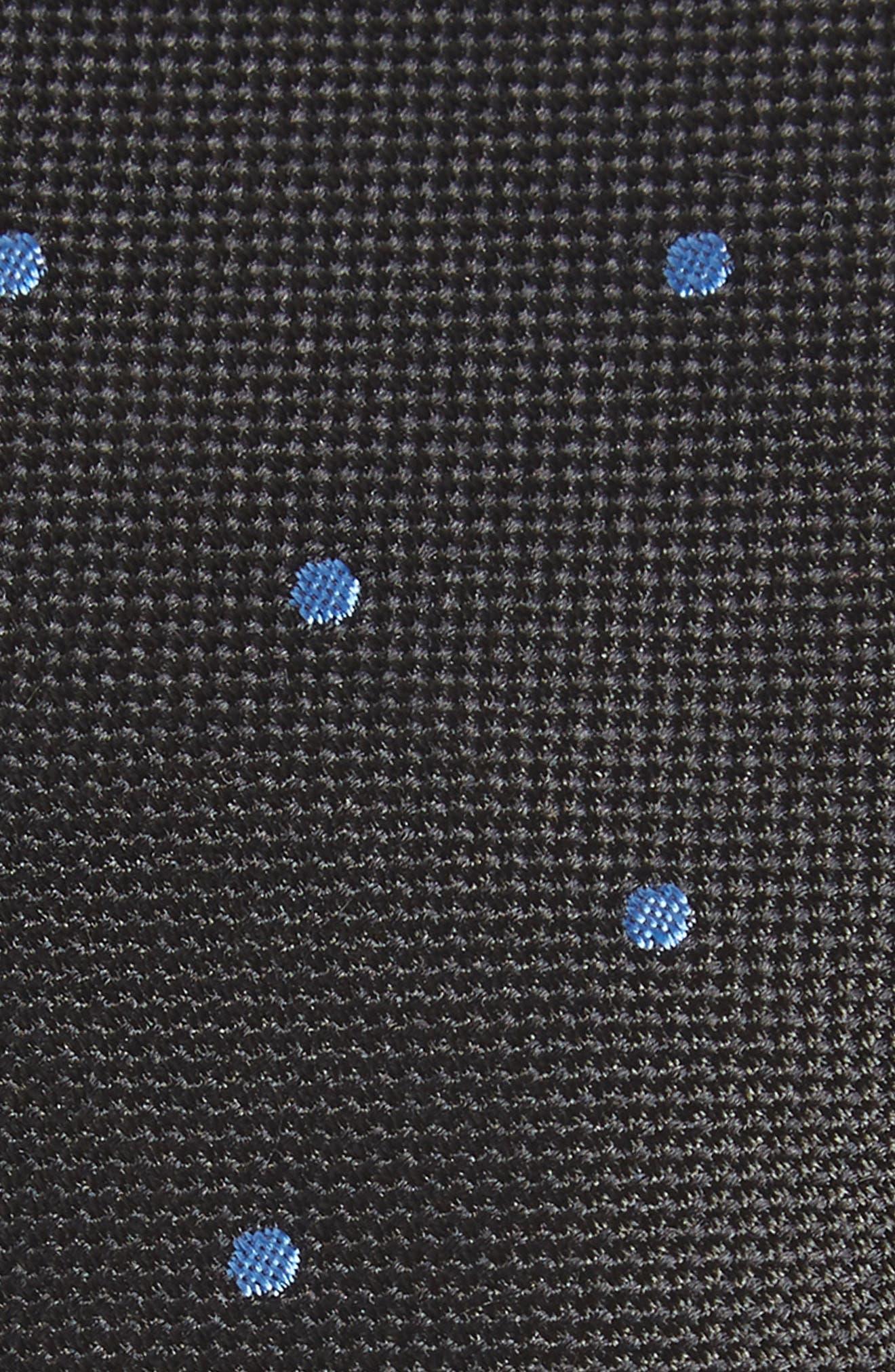 Arnet Dot Skinny Silk Tie,                             Alternate thumbnail 2, color,                             001