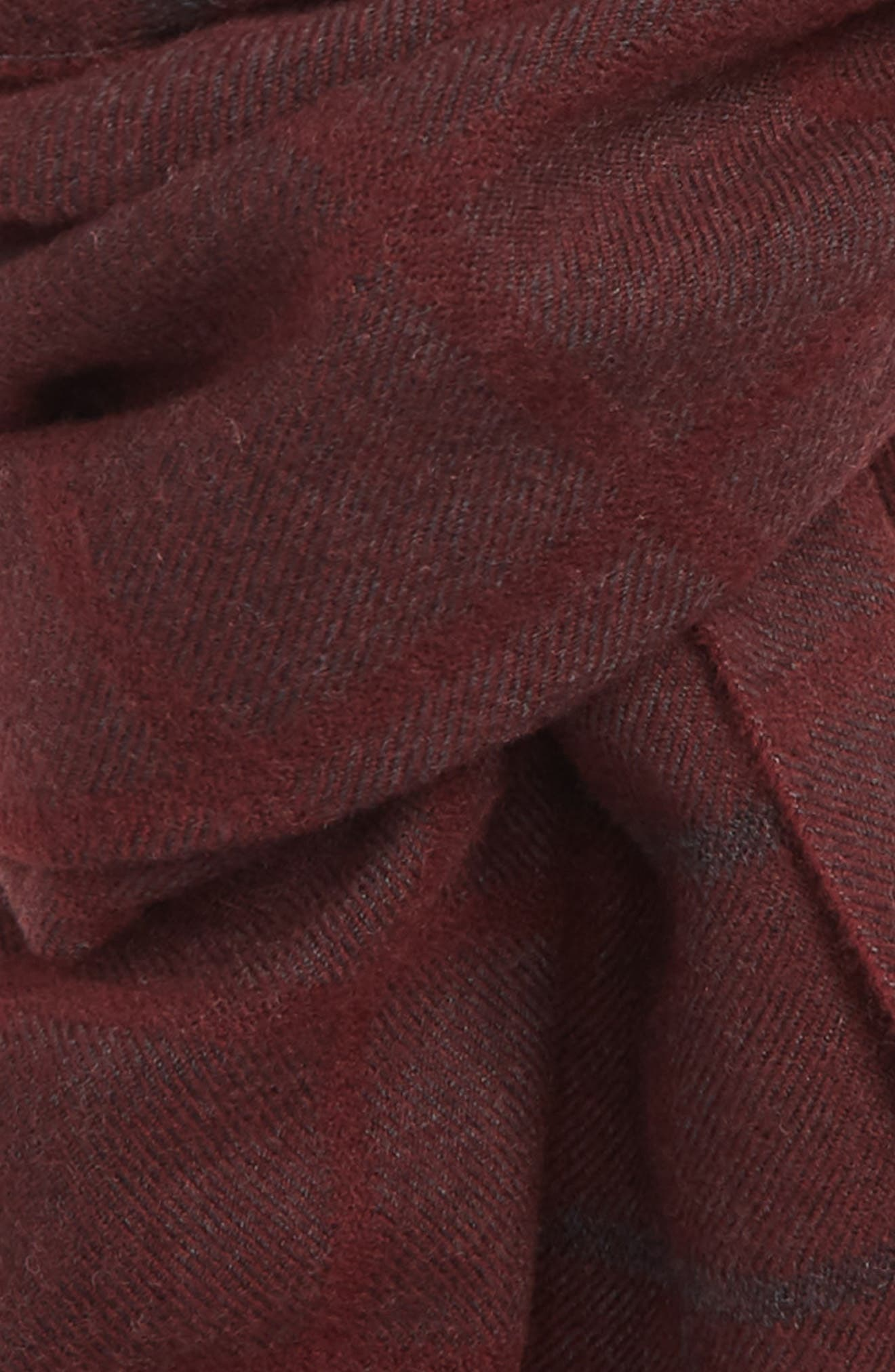 Windowpane Wool Scarf,                             Alternate thumbnail 3, color,                             RED