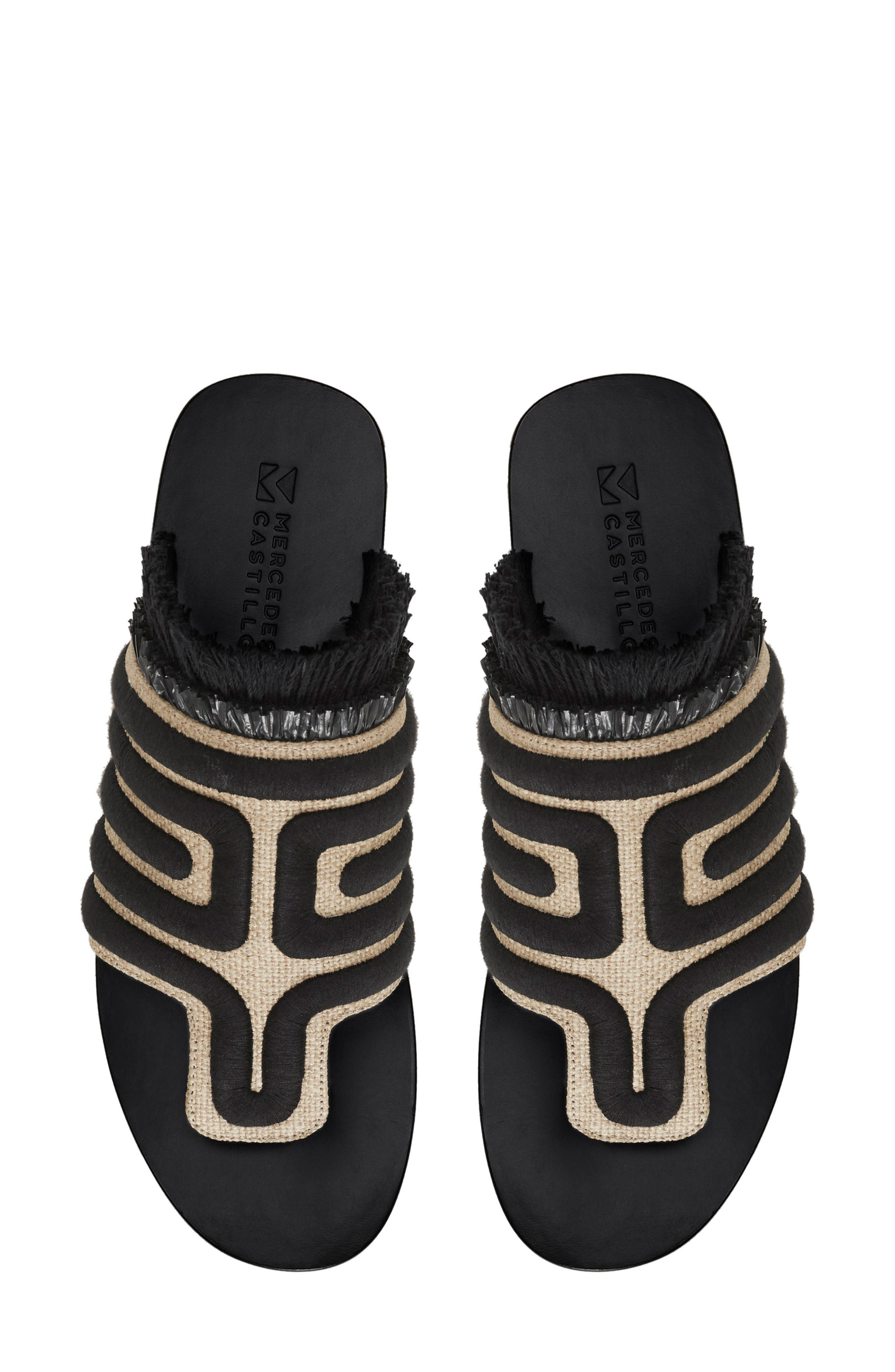 Lucara Embroidered Sandal,                             Alternate thumbnail 7, color,                             002